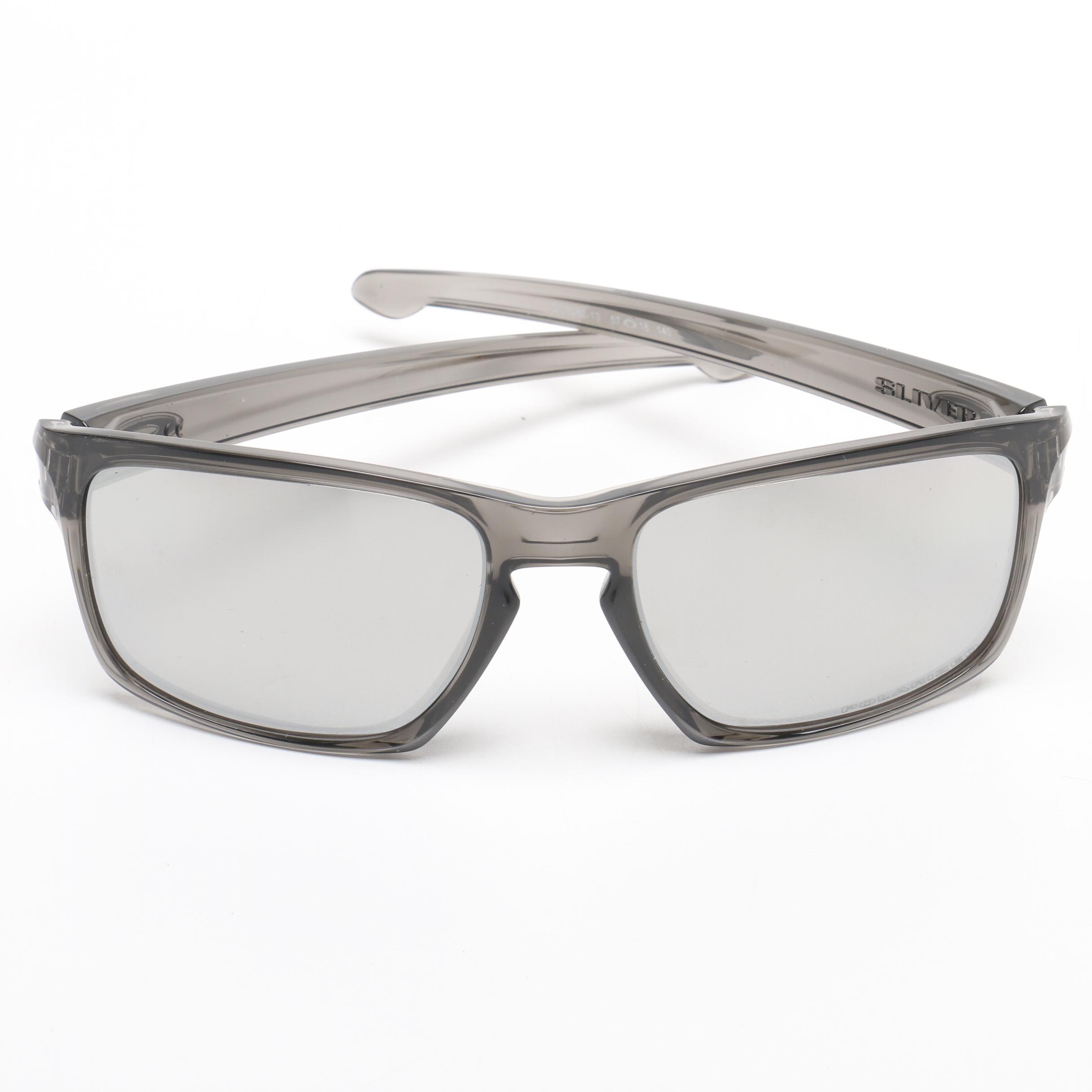 Oakley Silver Polarized Sunglasses