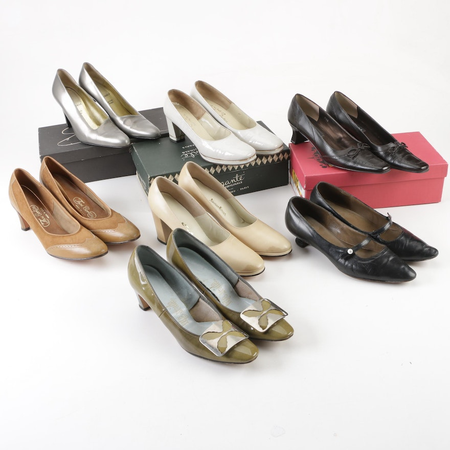 14fd0f32671 1980s and 1990s Leather Pumps and Heels