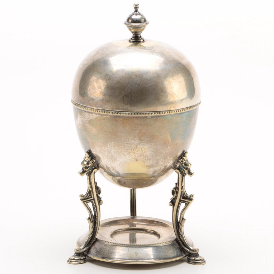 James Deakin & Sons Silver Plate Egg Coddler, Late 19th/Early 20th Century