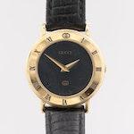 Gucci 300L Gold Tone Quartz Wristwatch