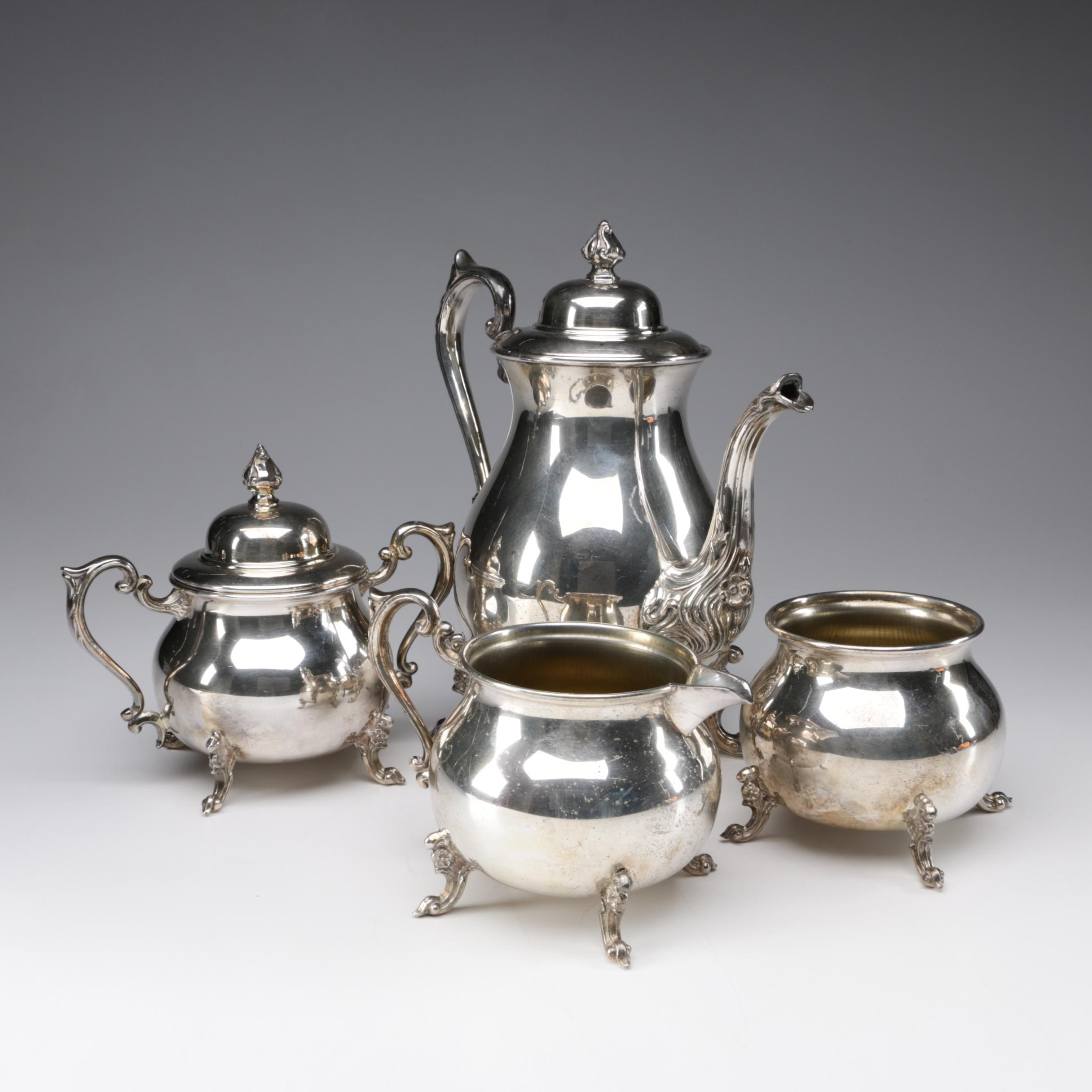 Sheridan Silver Co. Silver Plate on Copper Coffee Set, 1946 - 1973