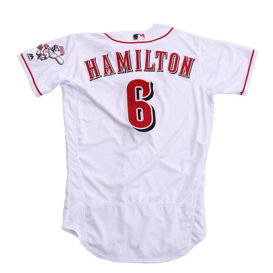 d2763a4b8 Signed Billy Hamilton Team Issued Cincinnati Reds Jersey   EBTH