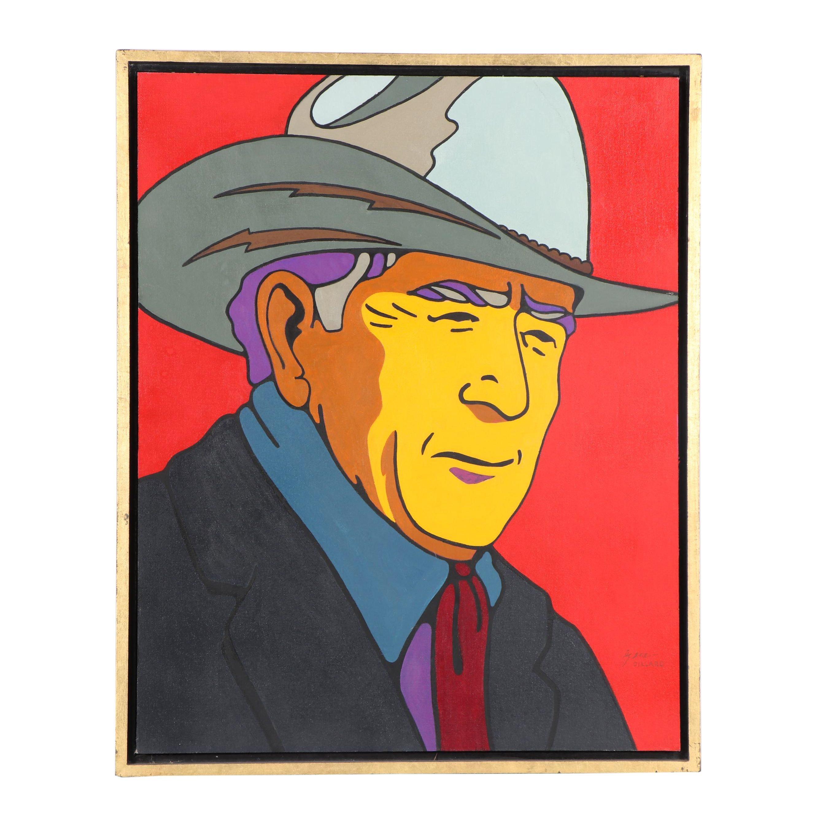 Gene Dillard Portrait Acrylic Painting