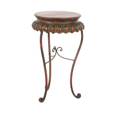 Neoclassical Style Metal Plant Stand, 21st Century - Online Furniture Auctions Vintage Furniture Auction Antique