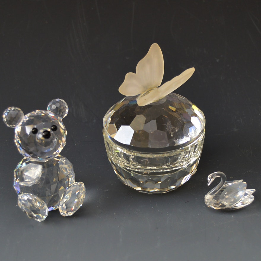 e87ee6495cbd Swarovski Austrian Crystal Figurines and Trinket Box   EBTH