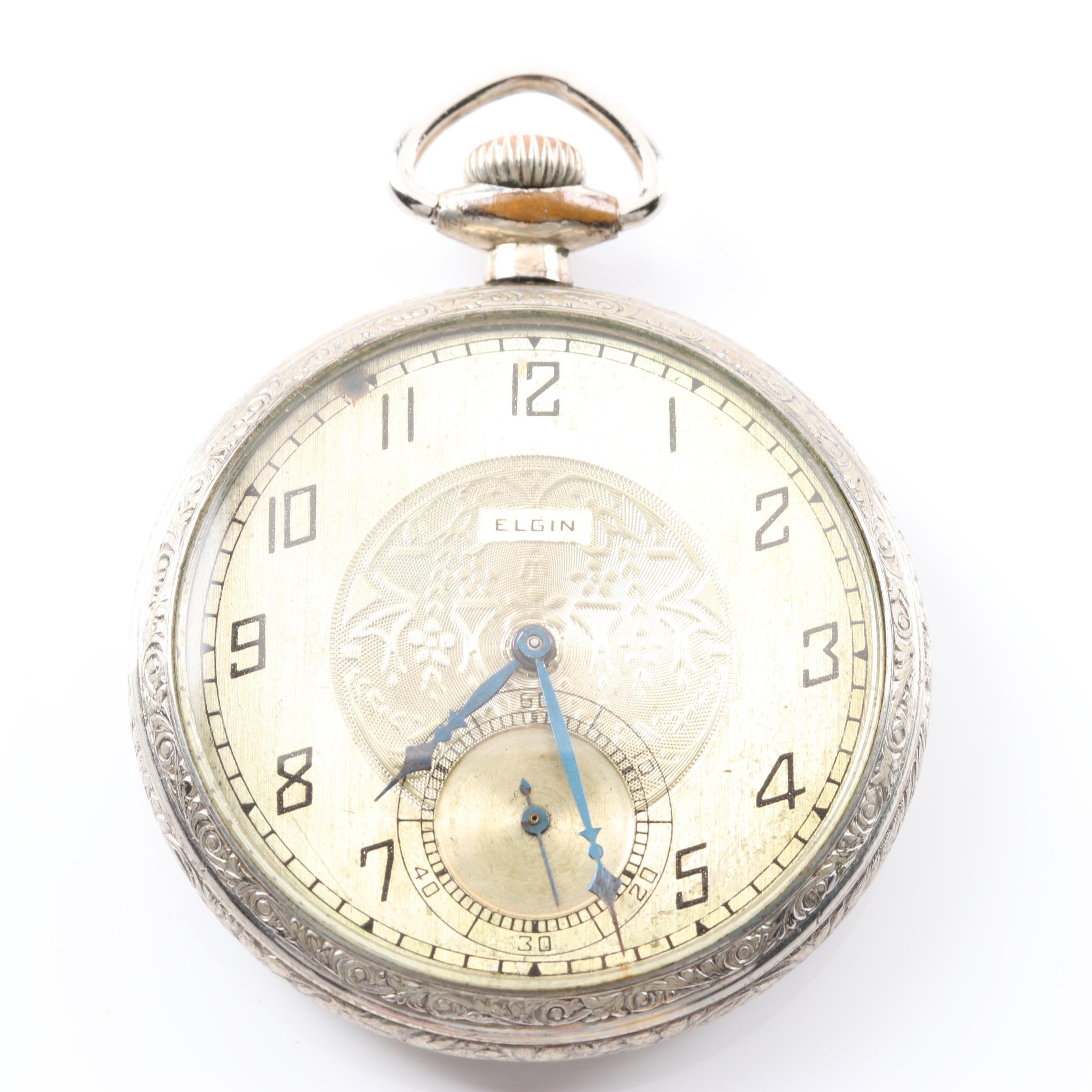 Plated Elgin Pocket Watch
