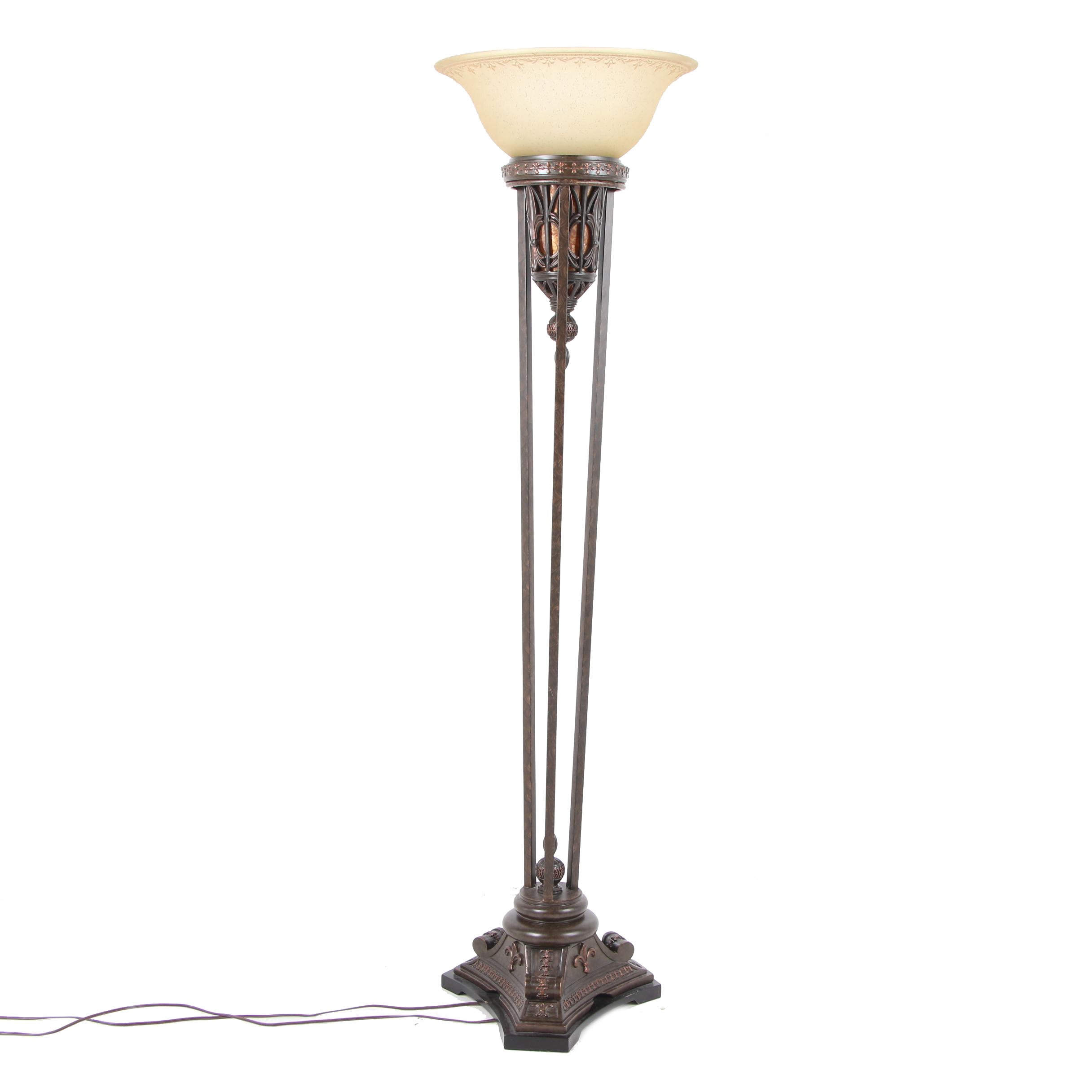 Neoclassical Style Torchiere Floor Lamp