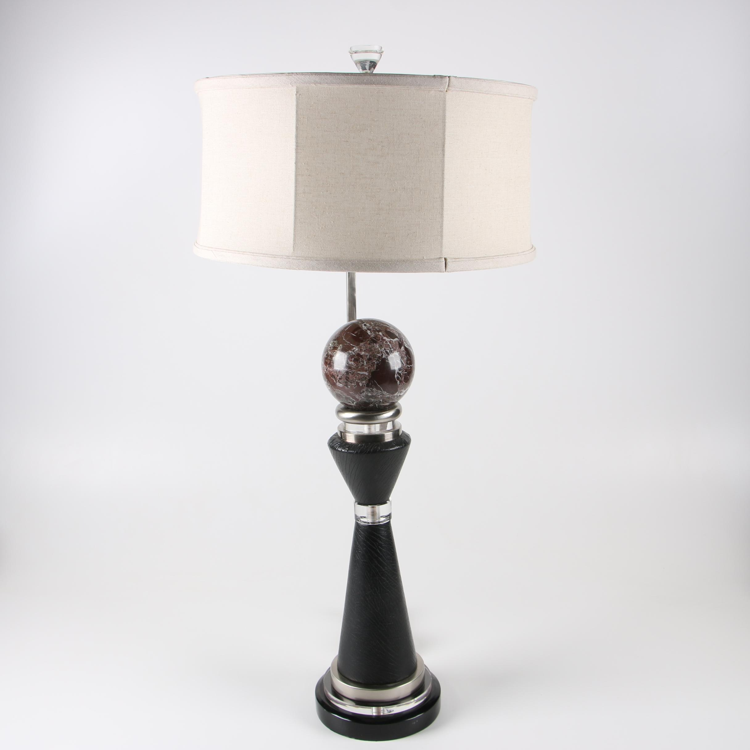 John richard lighting Desk Ebthcom Johnrichard Post Modernist Table Lamp With Fabric Shade Ebth