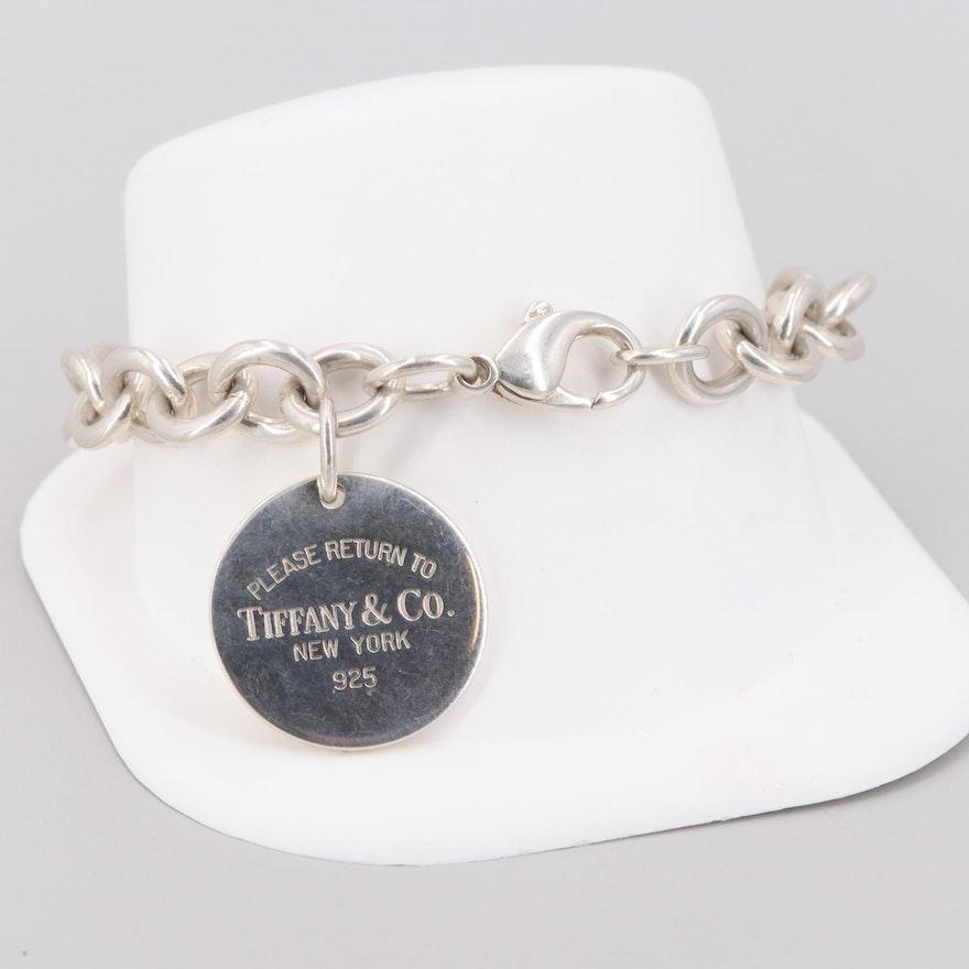 Vintage Tiffany Co Sterling Silver Return To Tiffany Circle Tag Bracelet Ebth