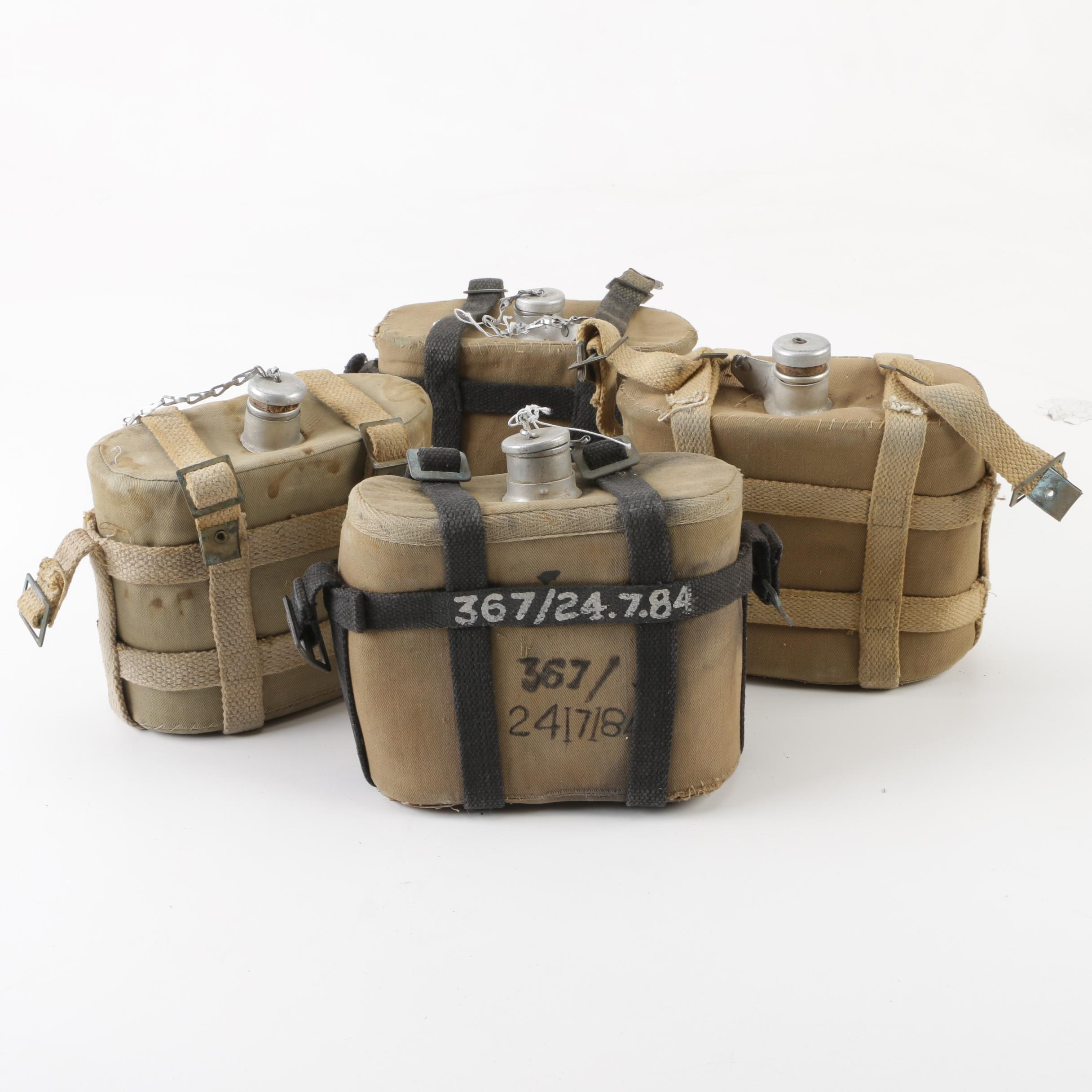 Canvas Wrapped Military Canteens, 20th Century