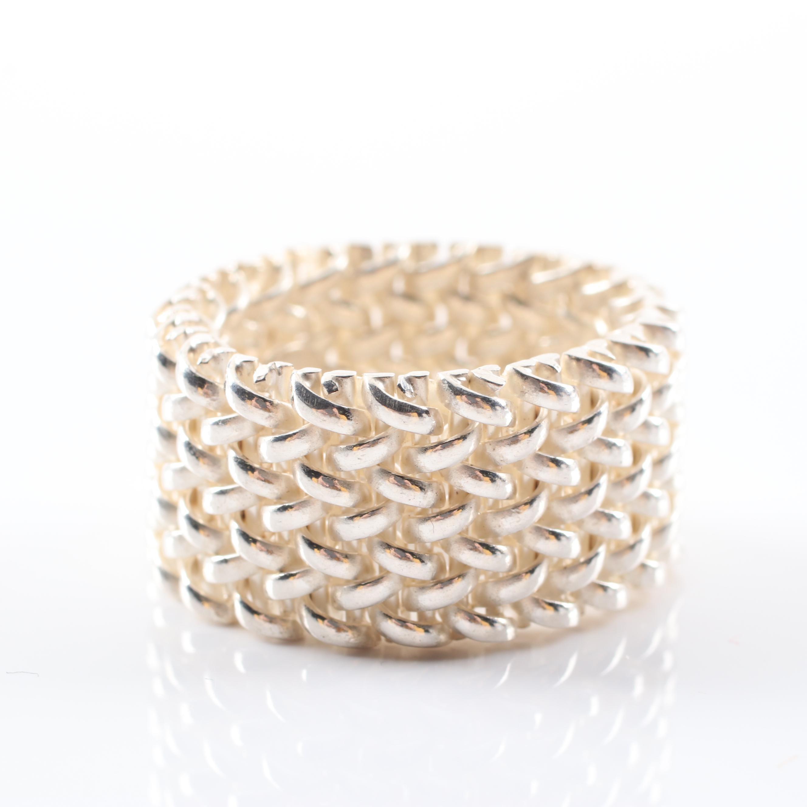 Sterling Silver Mesh Ring