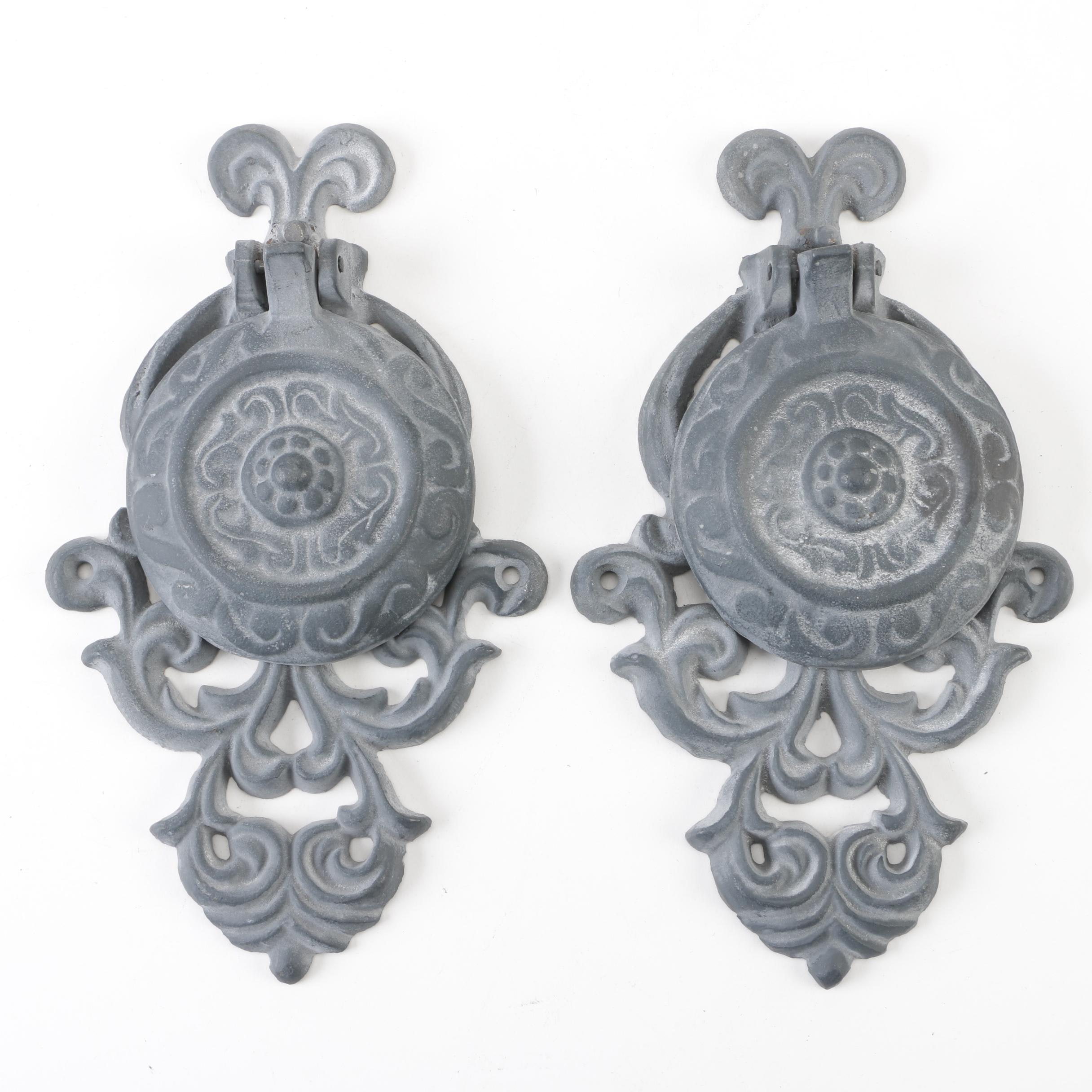 Pair of Victorian Style Cast Metal Door Knockers