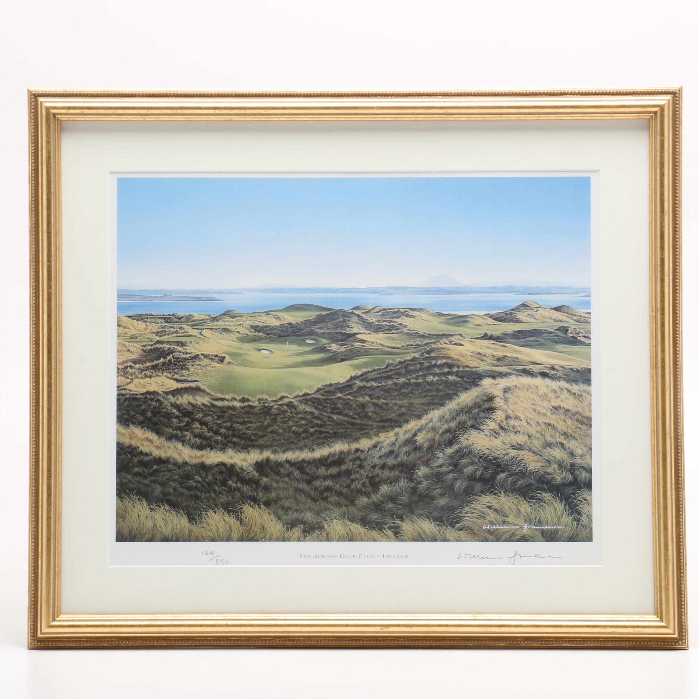 "William Grandison Limited Edition Offset Lithograph ""Enniscrone Golf Club"""