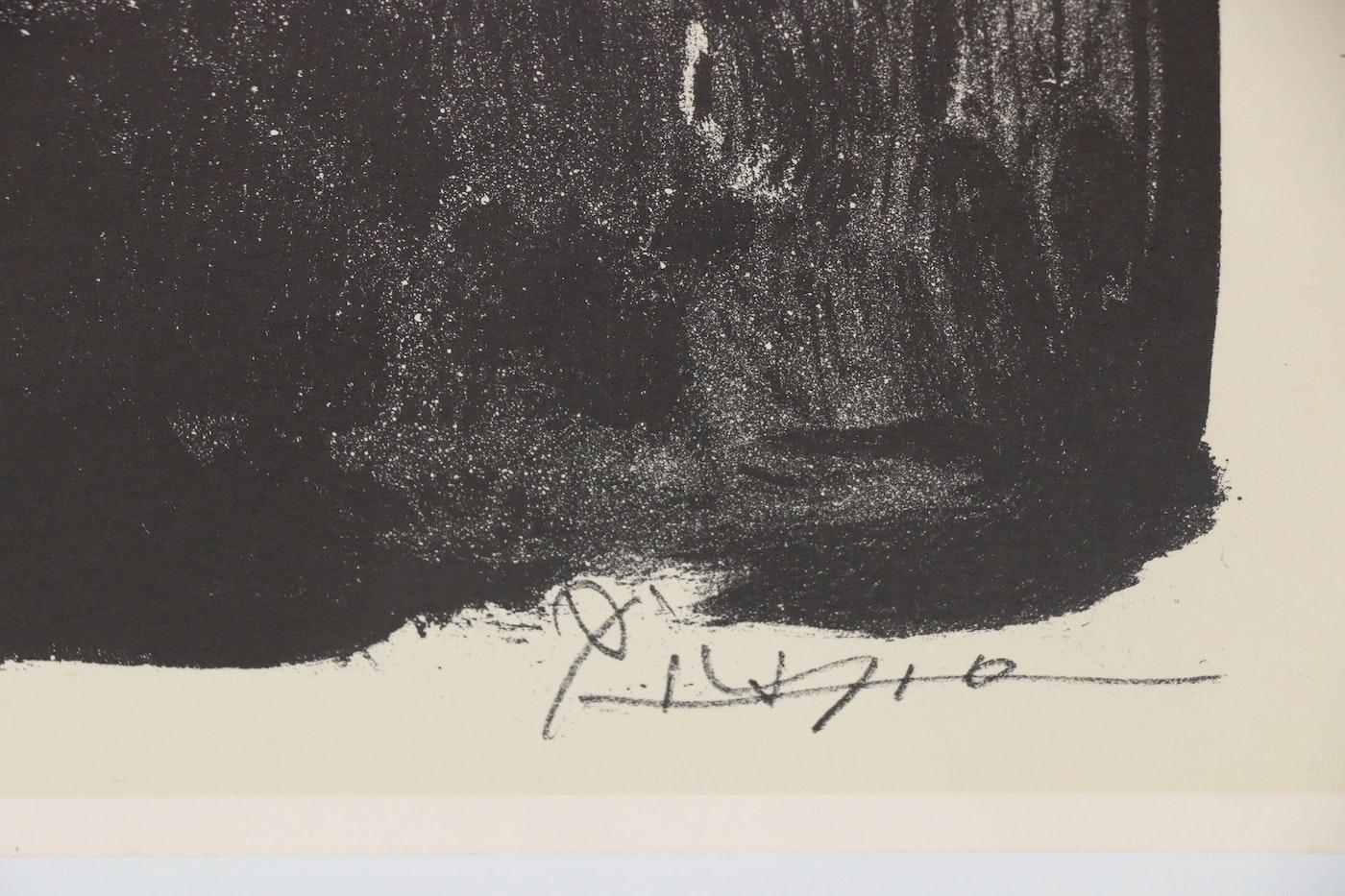 """Lithograph After Pablo Picasso """"Profil Au Fond Noir"""""""