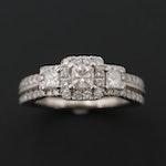 Vera Wang 14K White Gold 1.08 CTW Diamond Ring