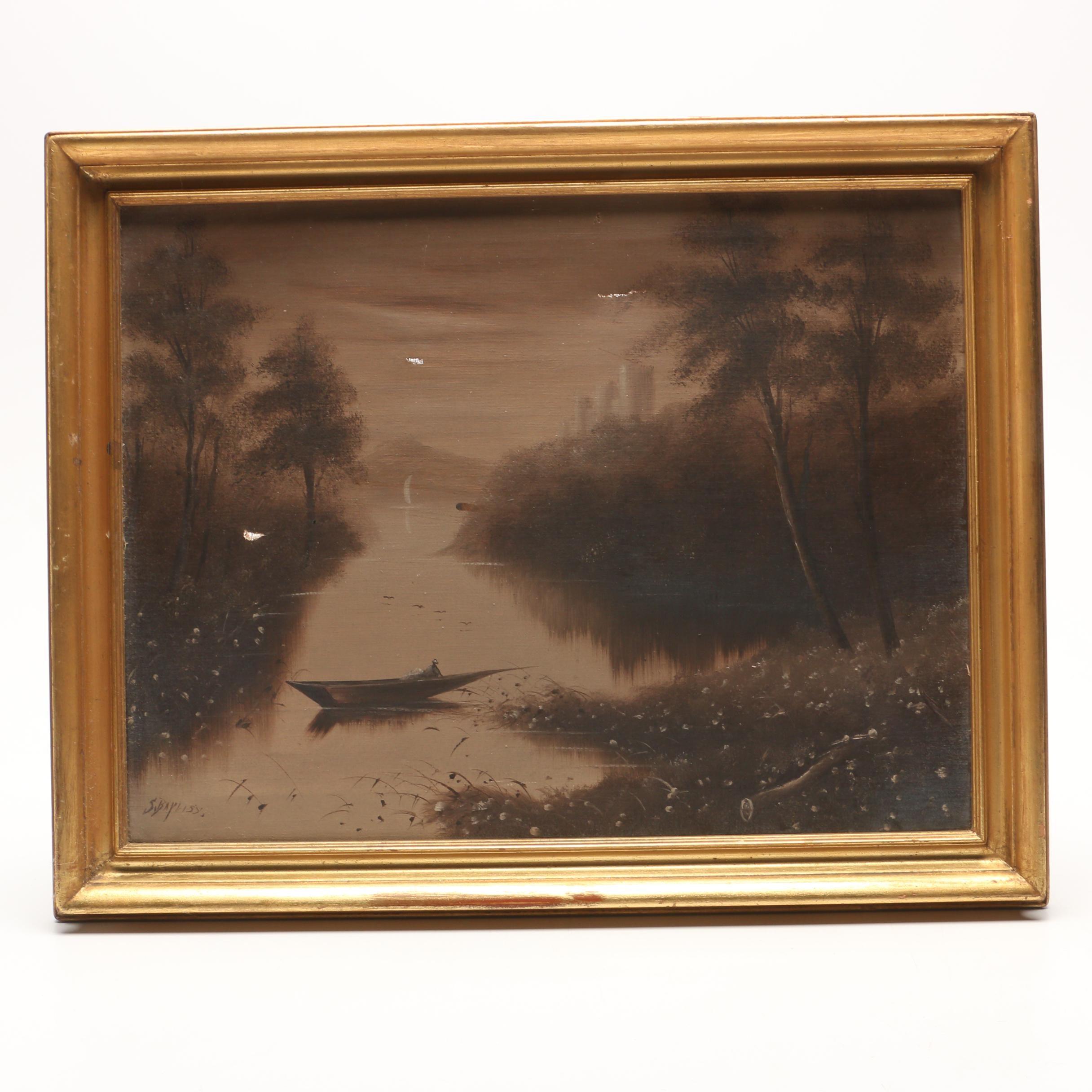S. Bayliss Landscape Oil Painting