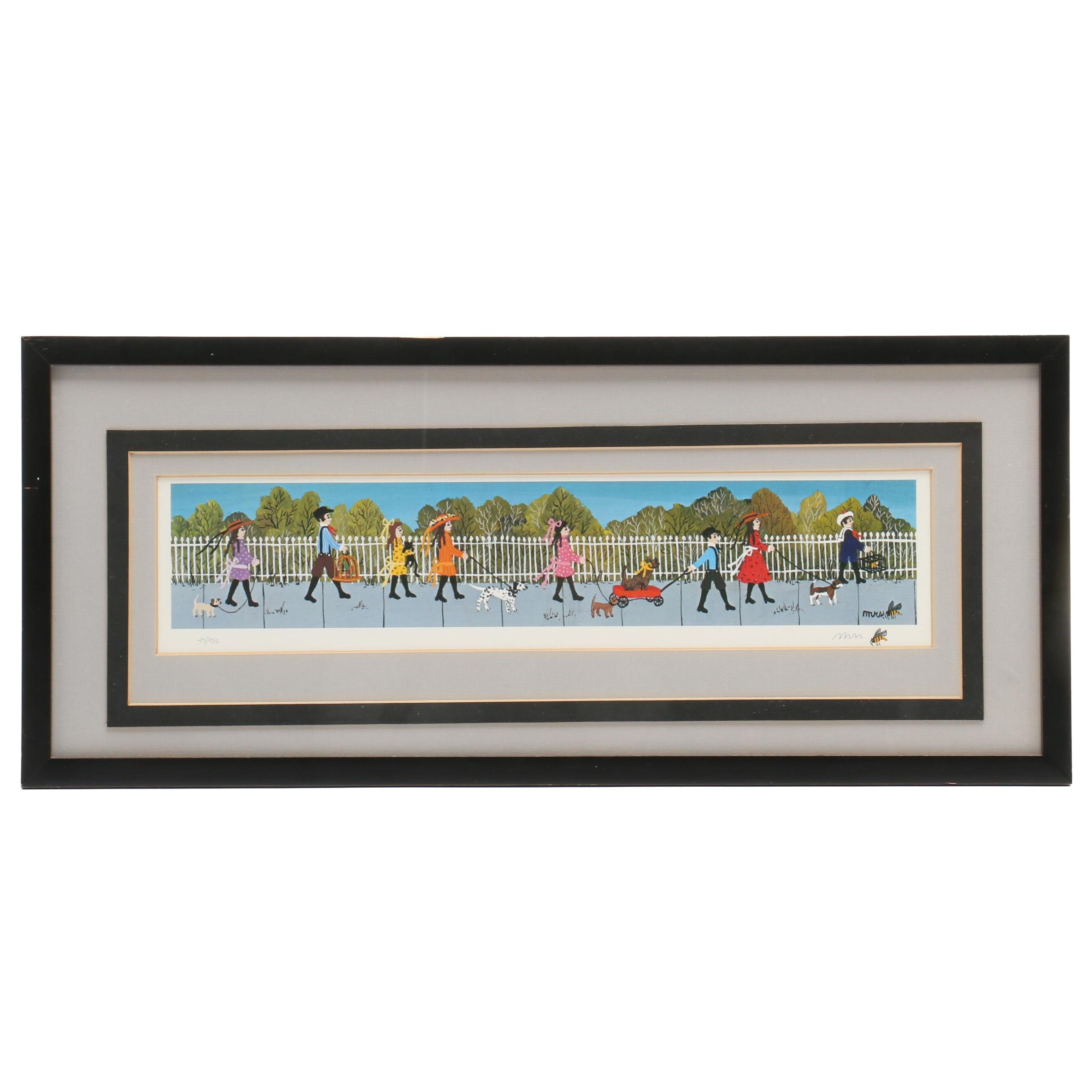 "Mrs. Bee Limited Edition Offset Lithograph ""The Pet Parade"""