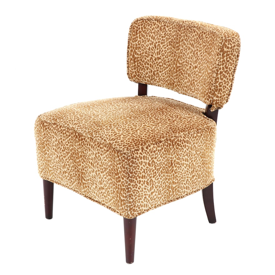 Fabulous Leopard Print Upholstered Vanity Chair By Pier 1 Imports 21St Century Caraccident5 Cool Chair Designs And Ideas Caraccident5Info