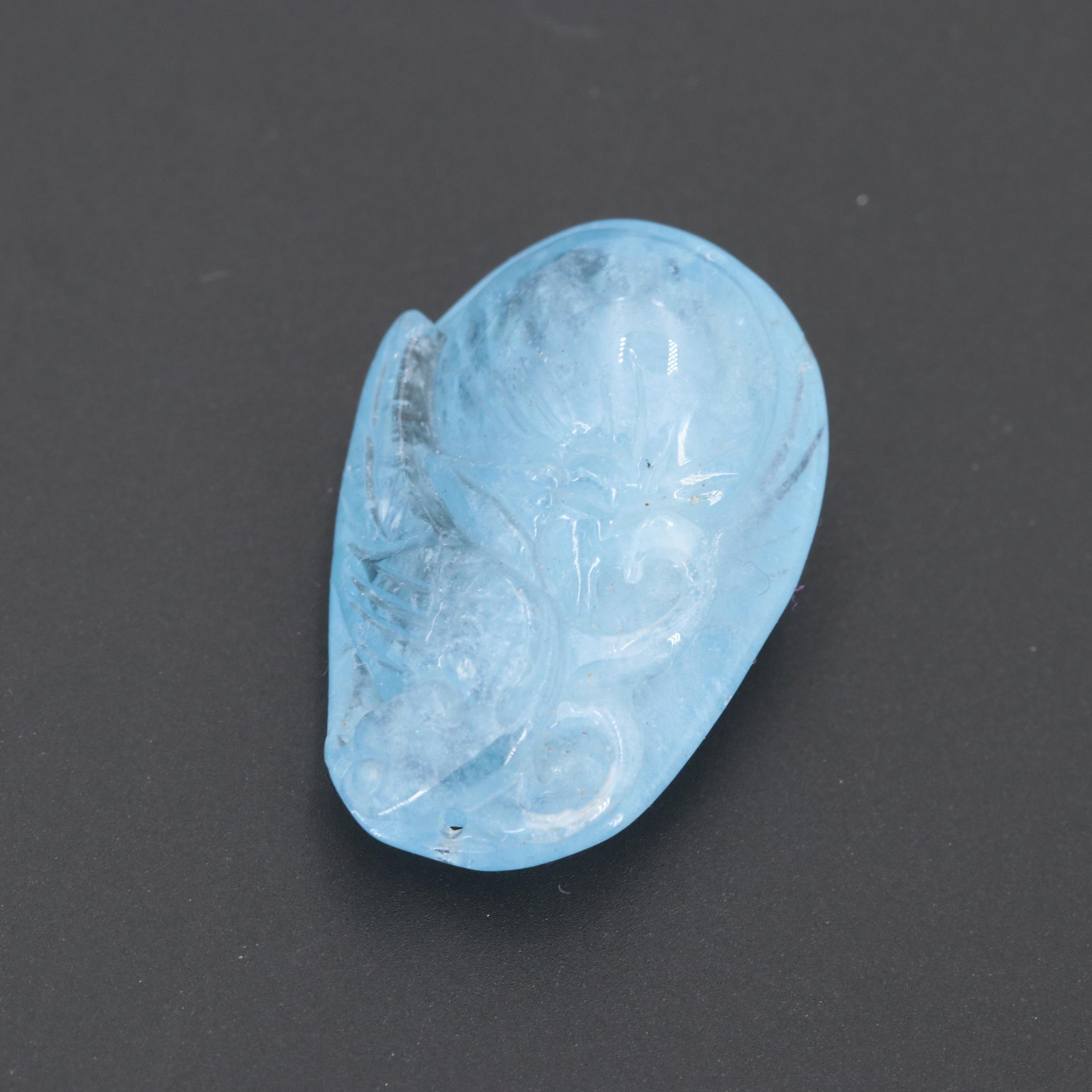 Loose 23.06 CT Aquamarine
