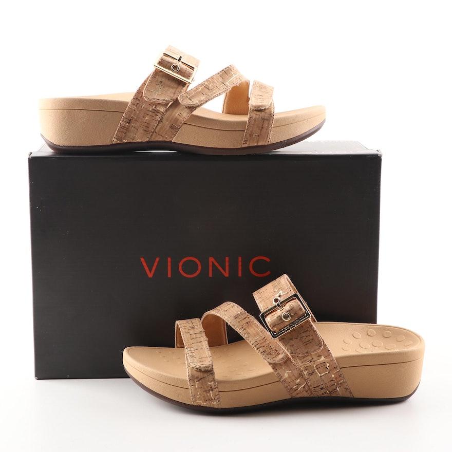 3637a7b2bb3d Vionic Pacific Rio Gold Cork Platform Sandals