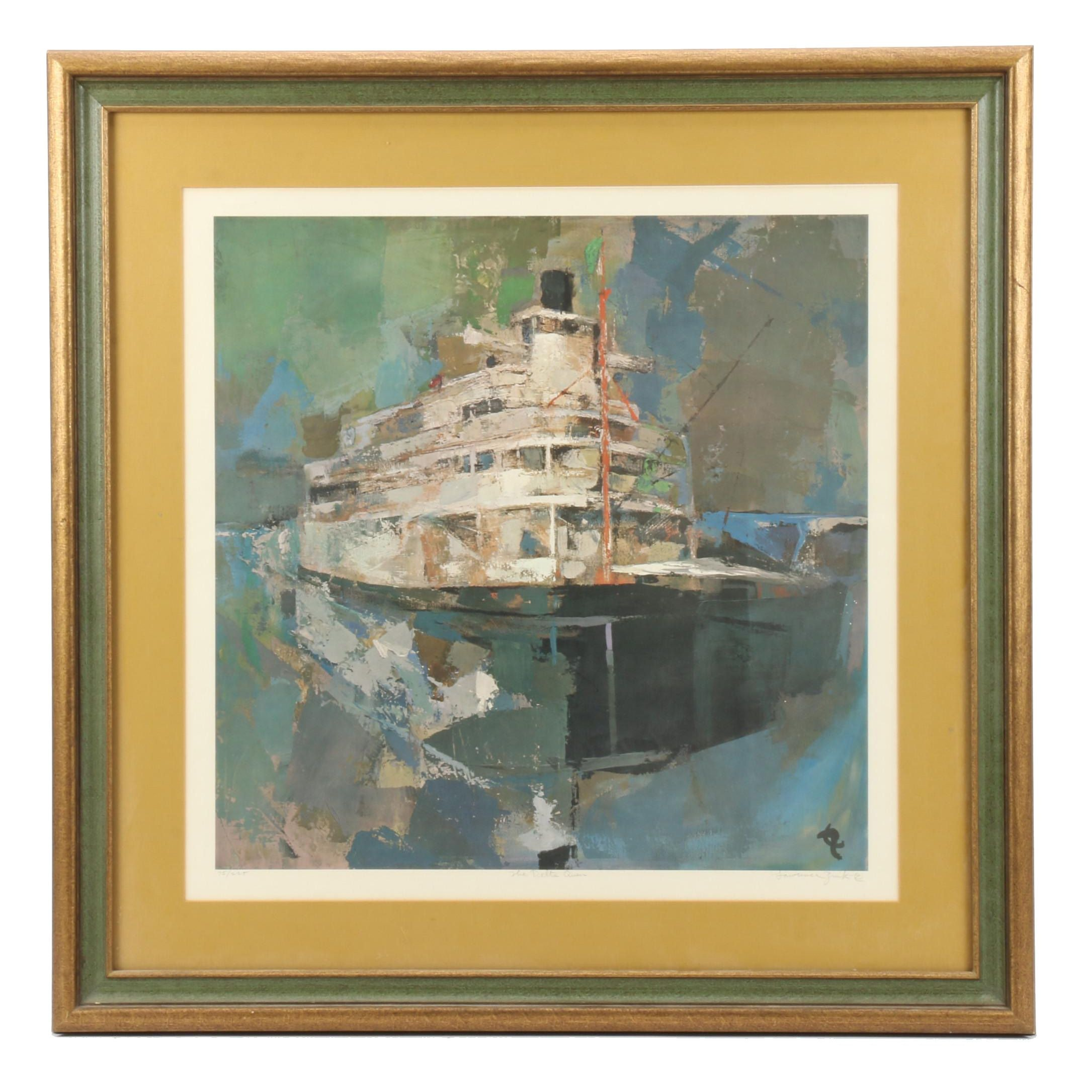 "Lawrence Zink Limited Edition Offset Lithograph ""The Delta Queen"""