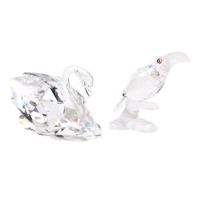 efdb4a618 Swarovski Crystal Swan and Toucan Figurines
