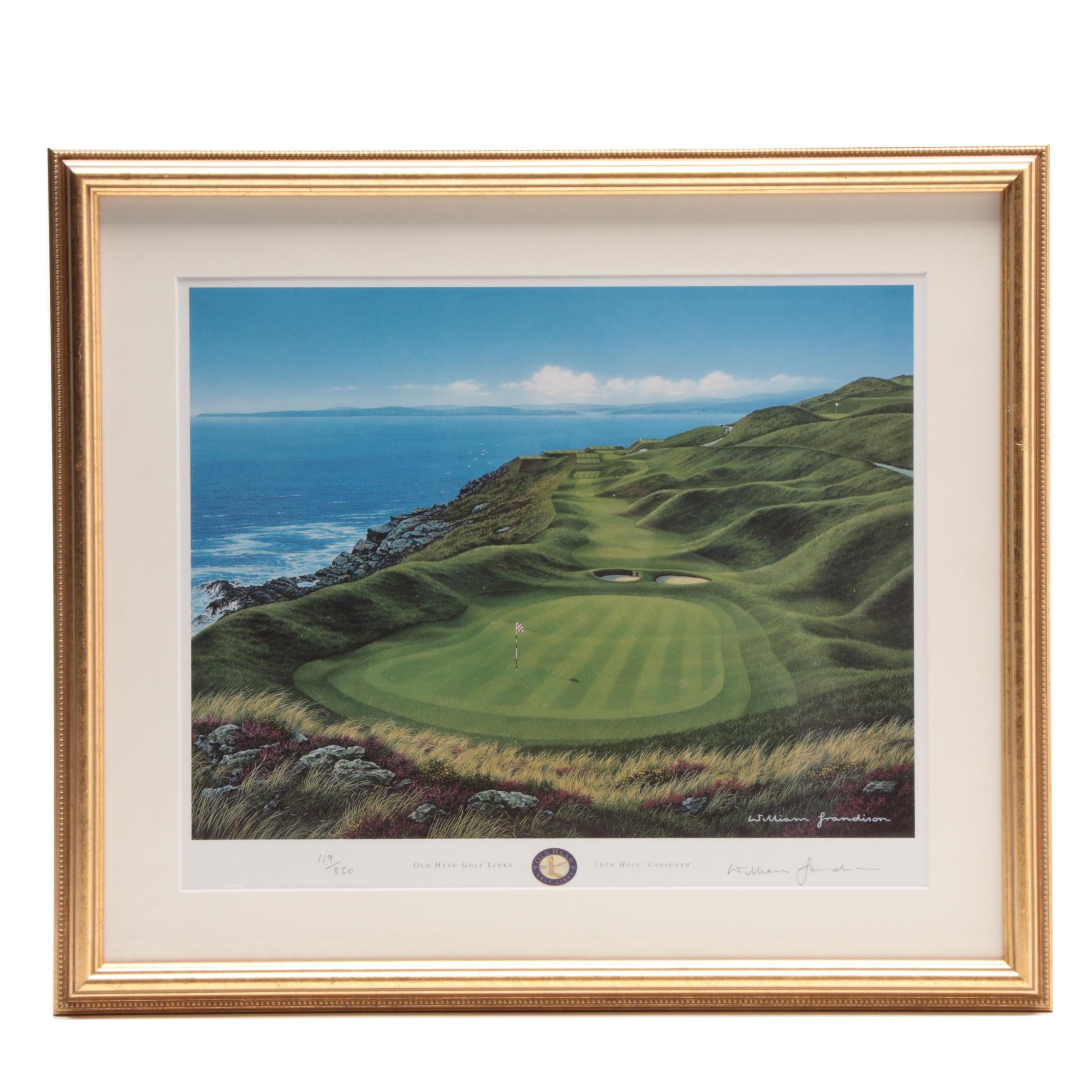 "William Grandison Limited Edition Offset Lithograph ""Old Head Golf Links"""