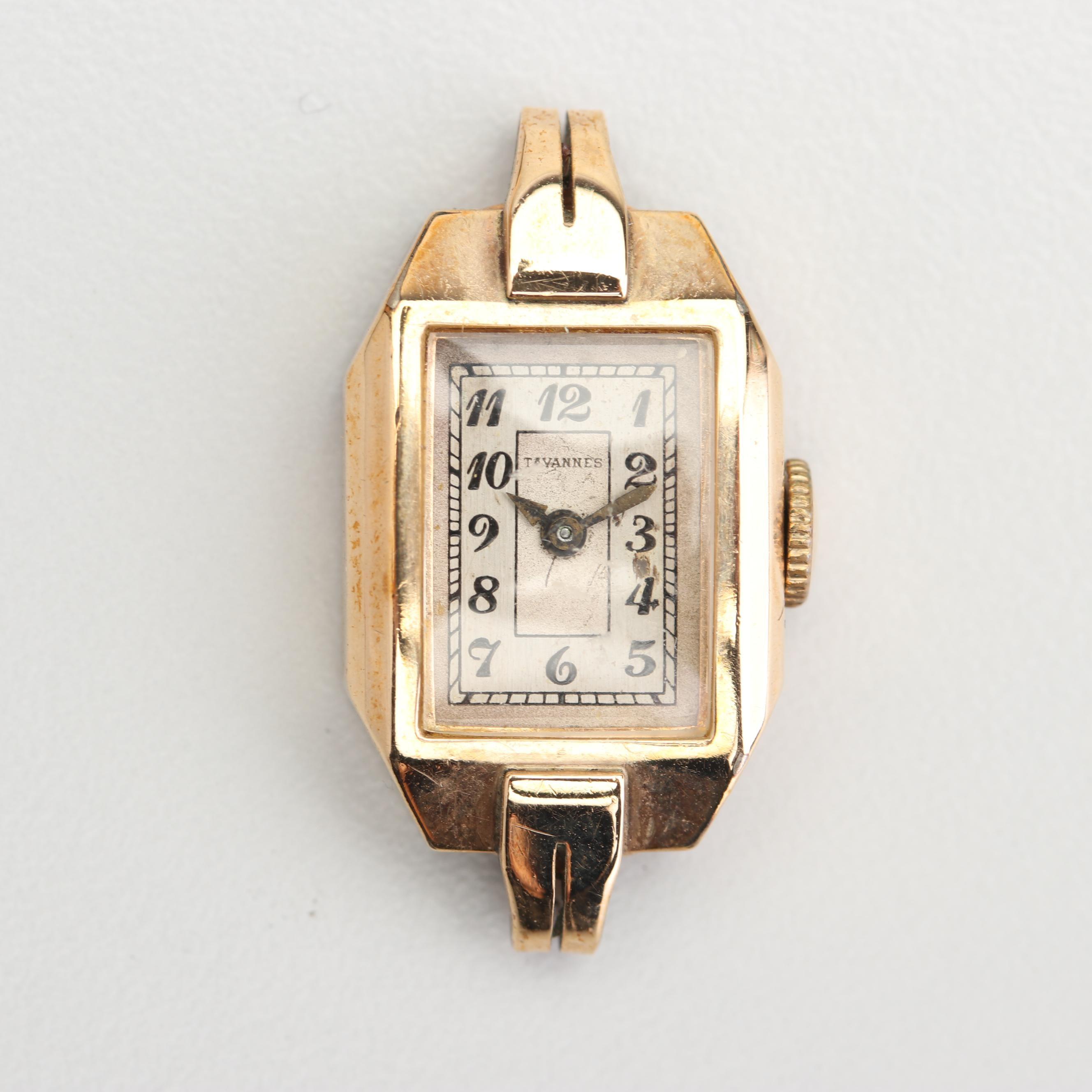 Vintage Tavannes 10K Yellow Gold Filled Watch Case