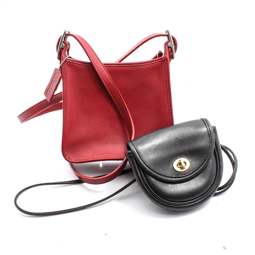 Coach Mini Belt Black Leather and Coach Legacy Red Leather Crossbody Bags    EBTH 924441be8e8bb