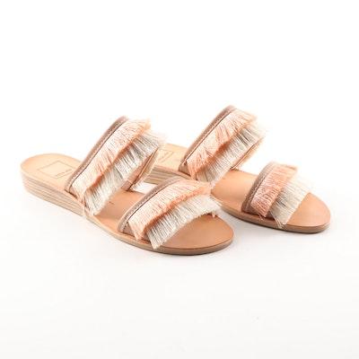 cdbc9cf2f7d1 Dolce Vita Haya Natural Fringe Slide Sandals