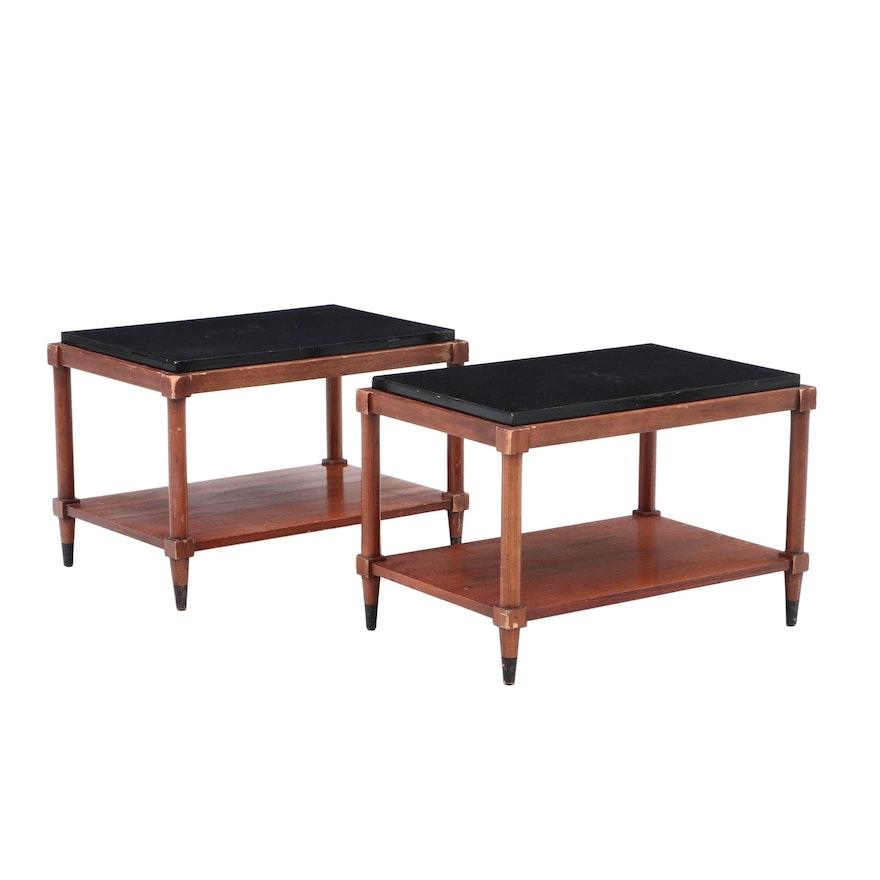 Terrific Mid Century Modern Walnut End Tables By Lane Furniture Download Free Architecture Designs Aeocymadebymaigaardcom
