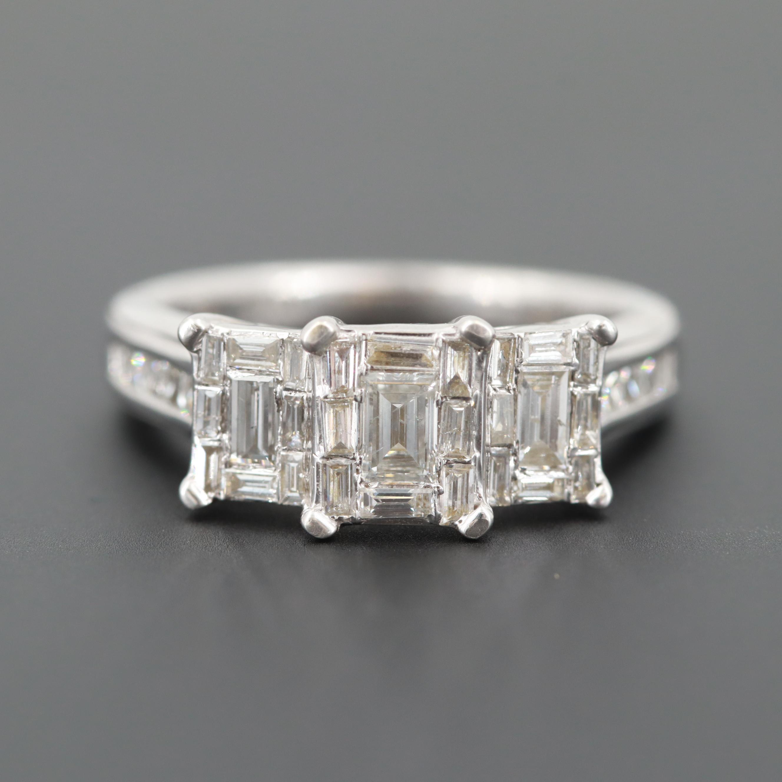 Harmony Eternally in Love 14K White Gold 1.02 CTW Diamond Ring