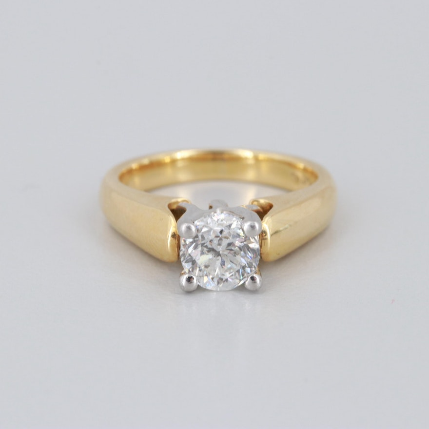 4e05c440bf99ea 18K Yellow Gold and Platinum