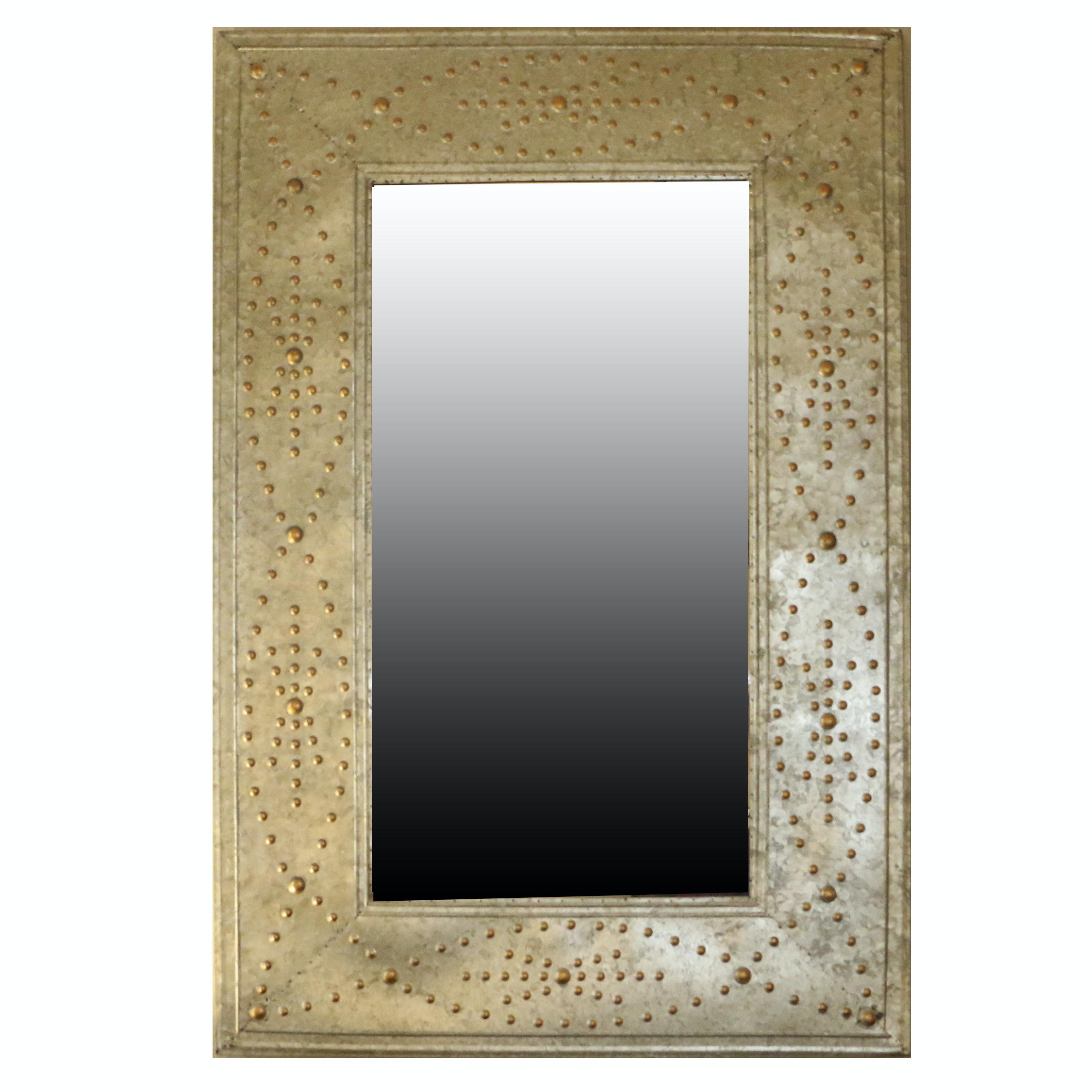 Beaded Metallic Wall Mirror