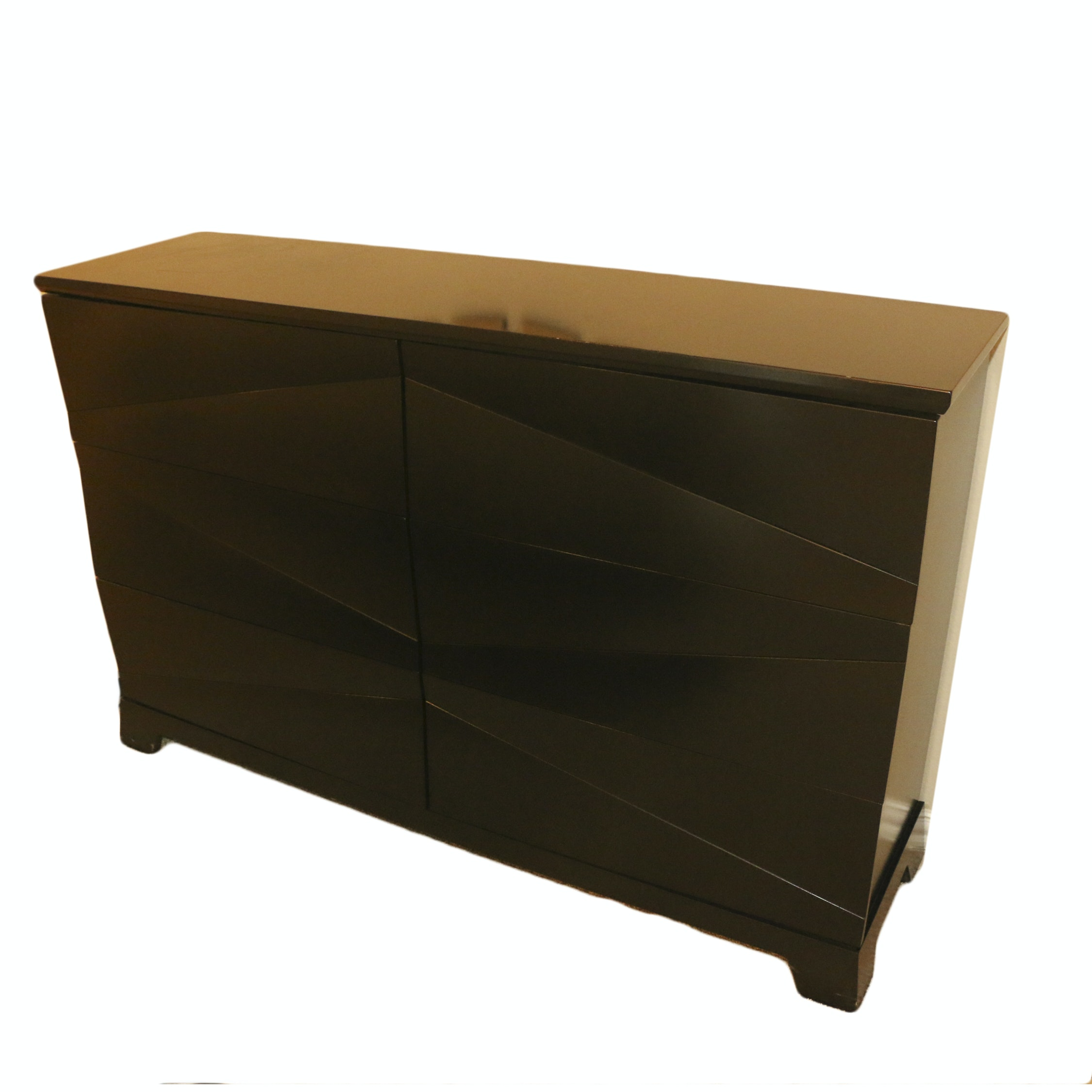 Diamond Faceted Front Chest of Drawers, 21st Century