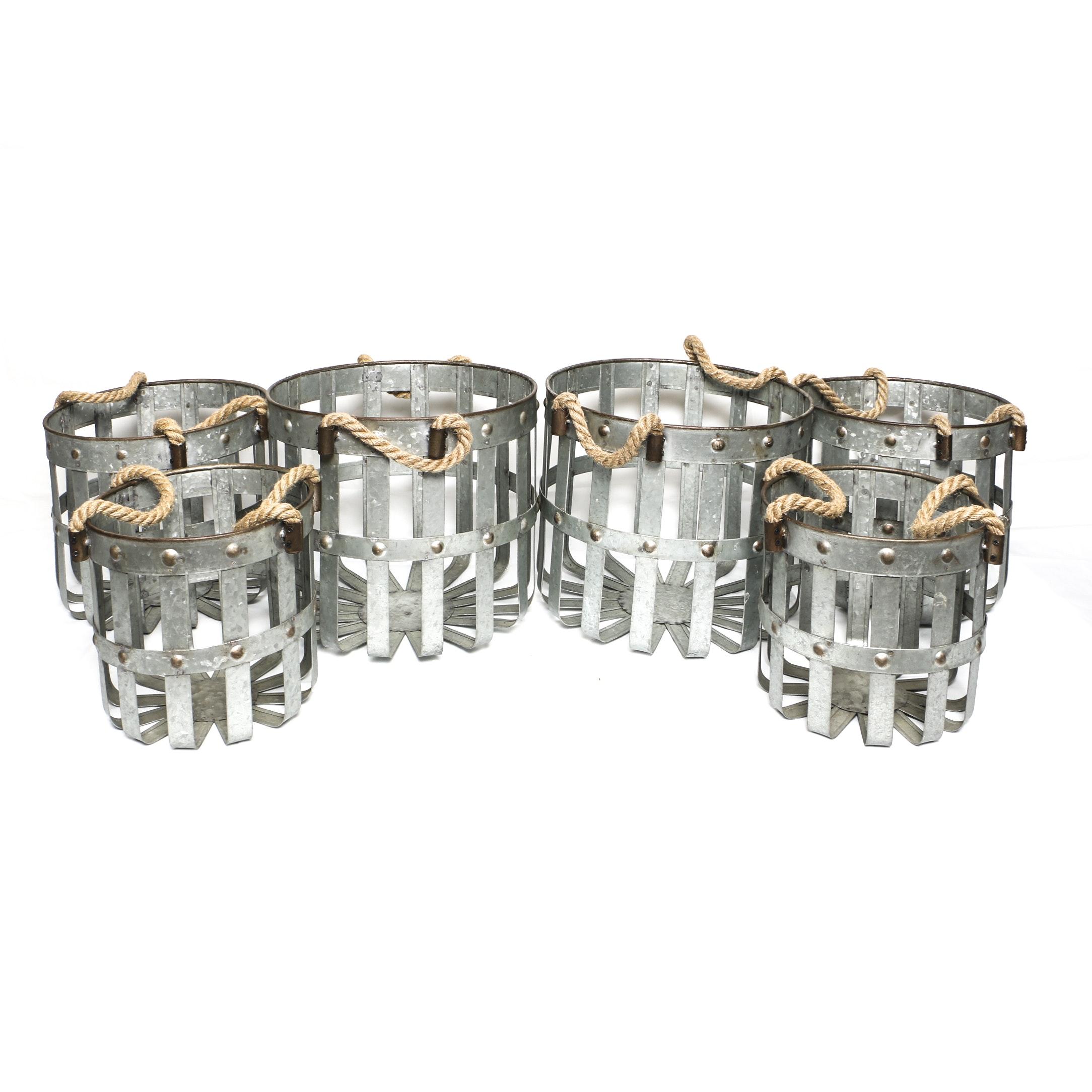Decorative Metal Storage Baskets