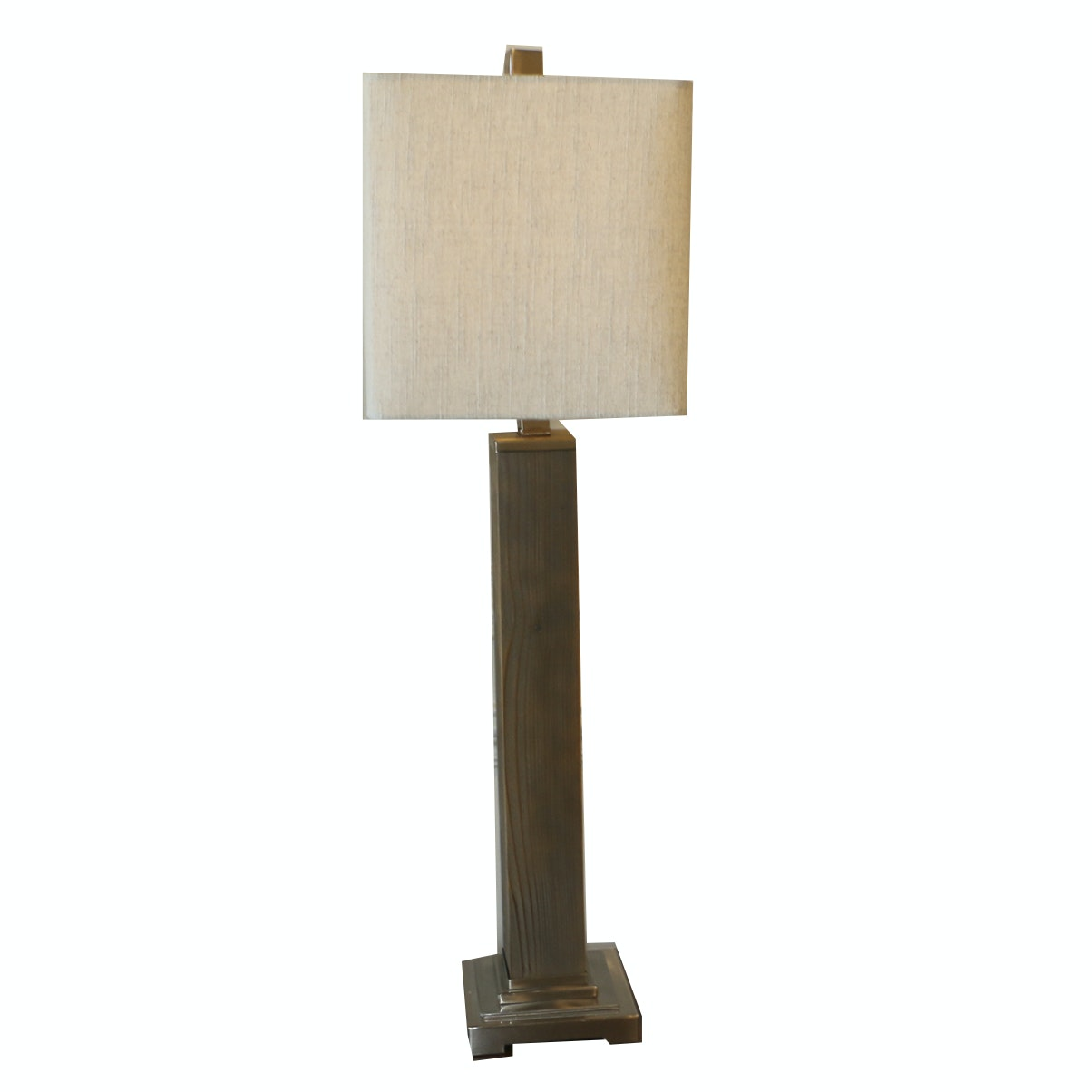 Pillar Accent Lamp with Square Shade