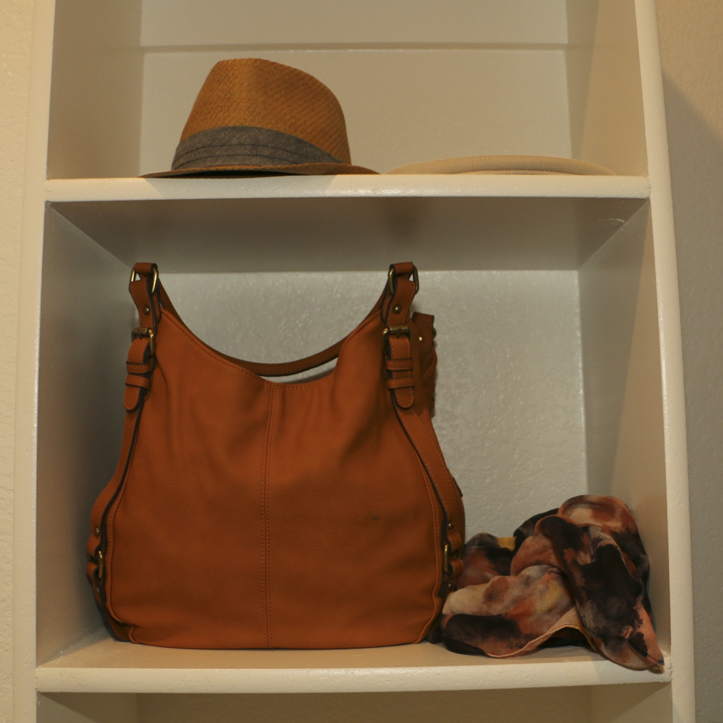 Women's Hats, Scarf and Merona Faux Leather Shoulder Bag