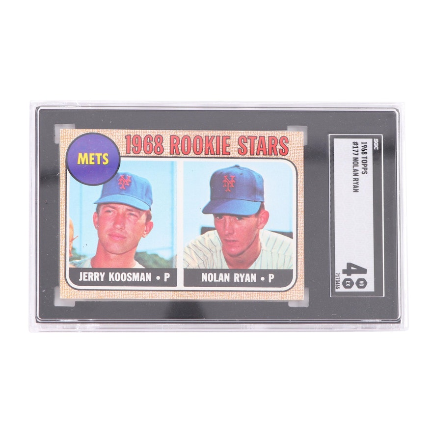 1968 Topps Nolan Ryan Rookie Card Sgc Graded