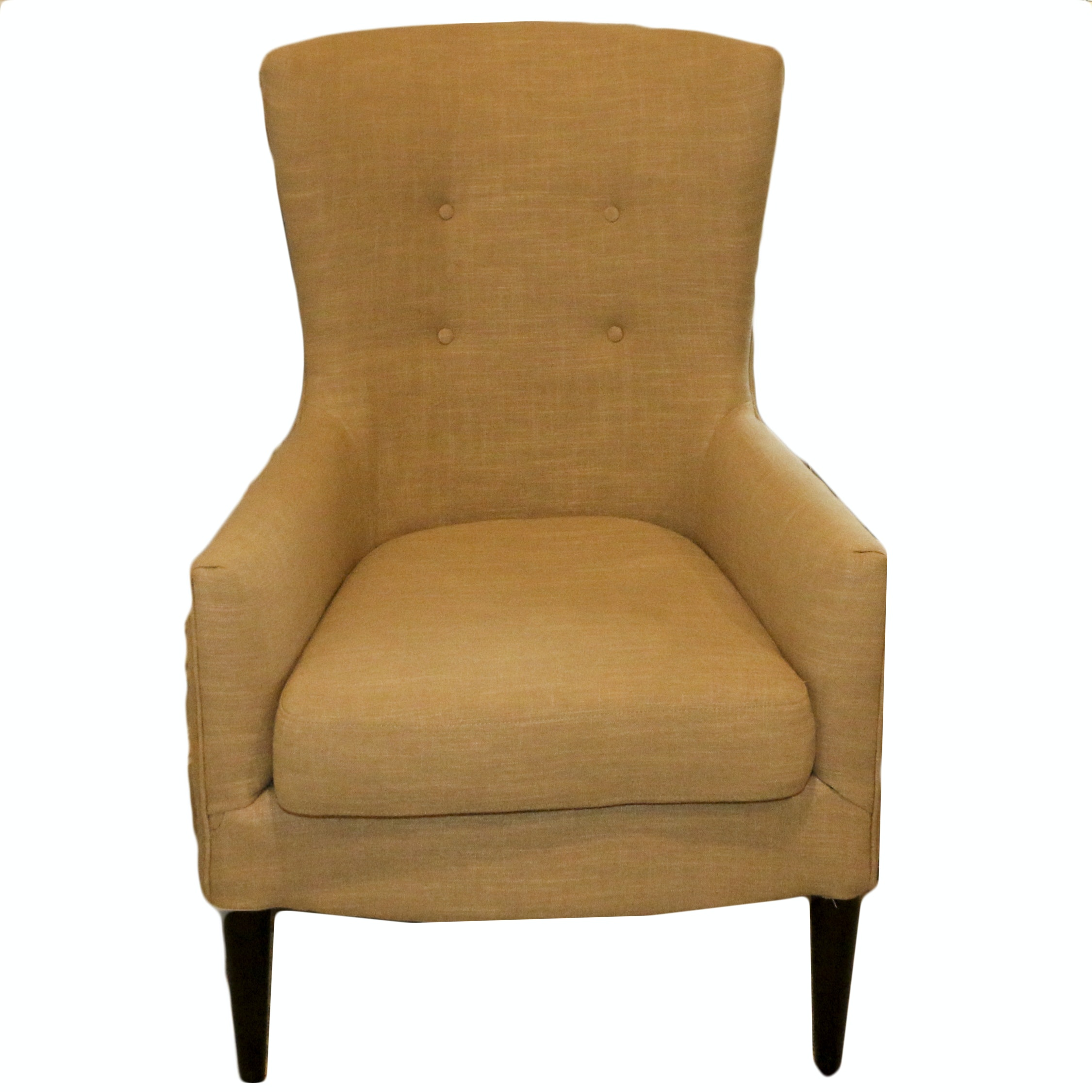 Button-Tufted Upholstered Armchair, 21st Century