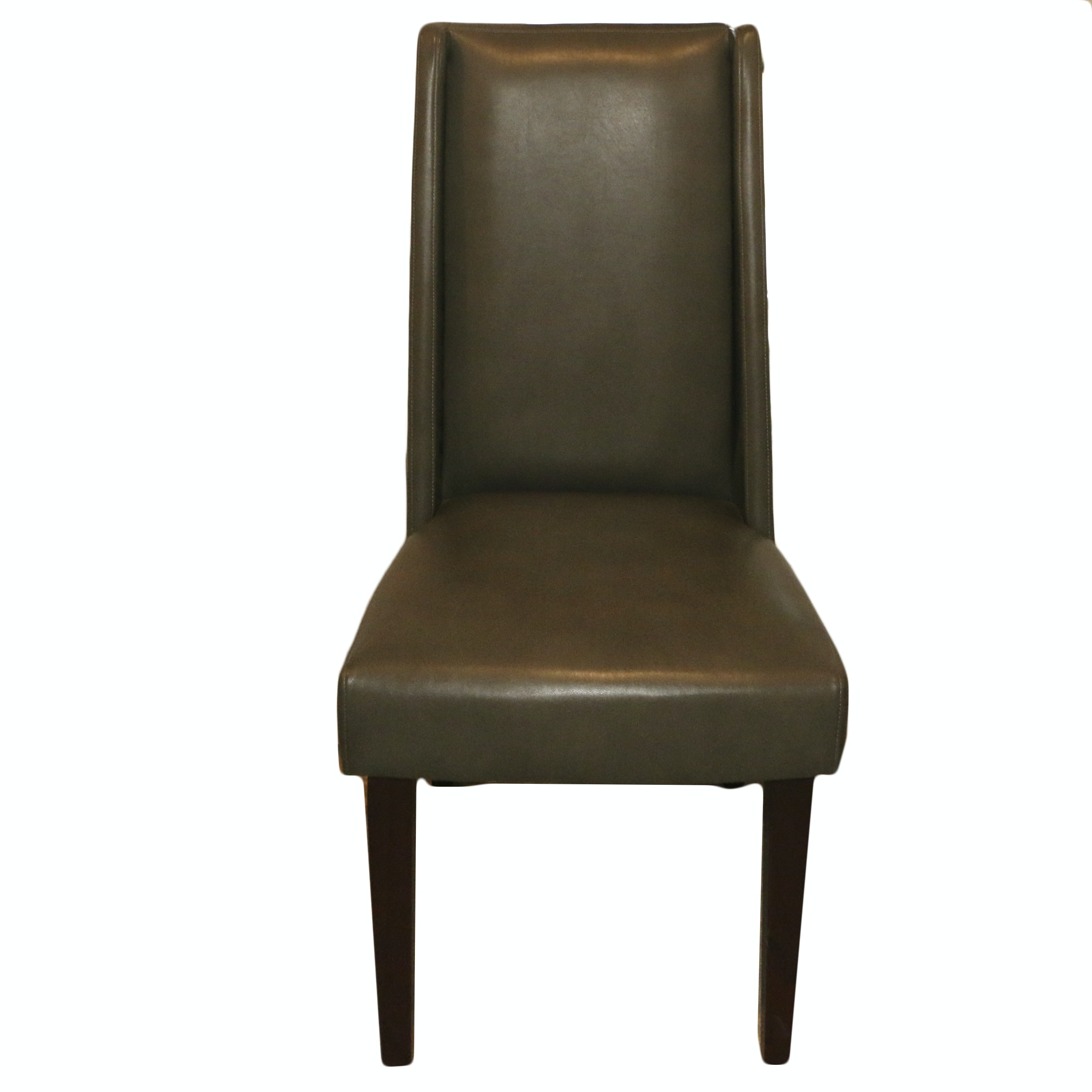 Leather Upholstered Armless Chair, 21st Century