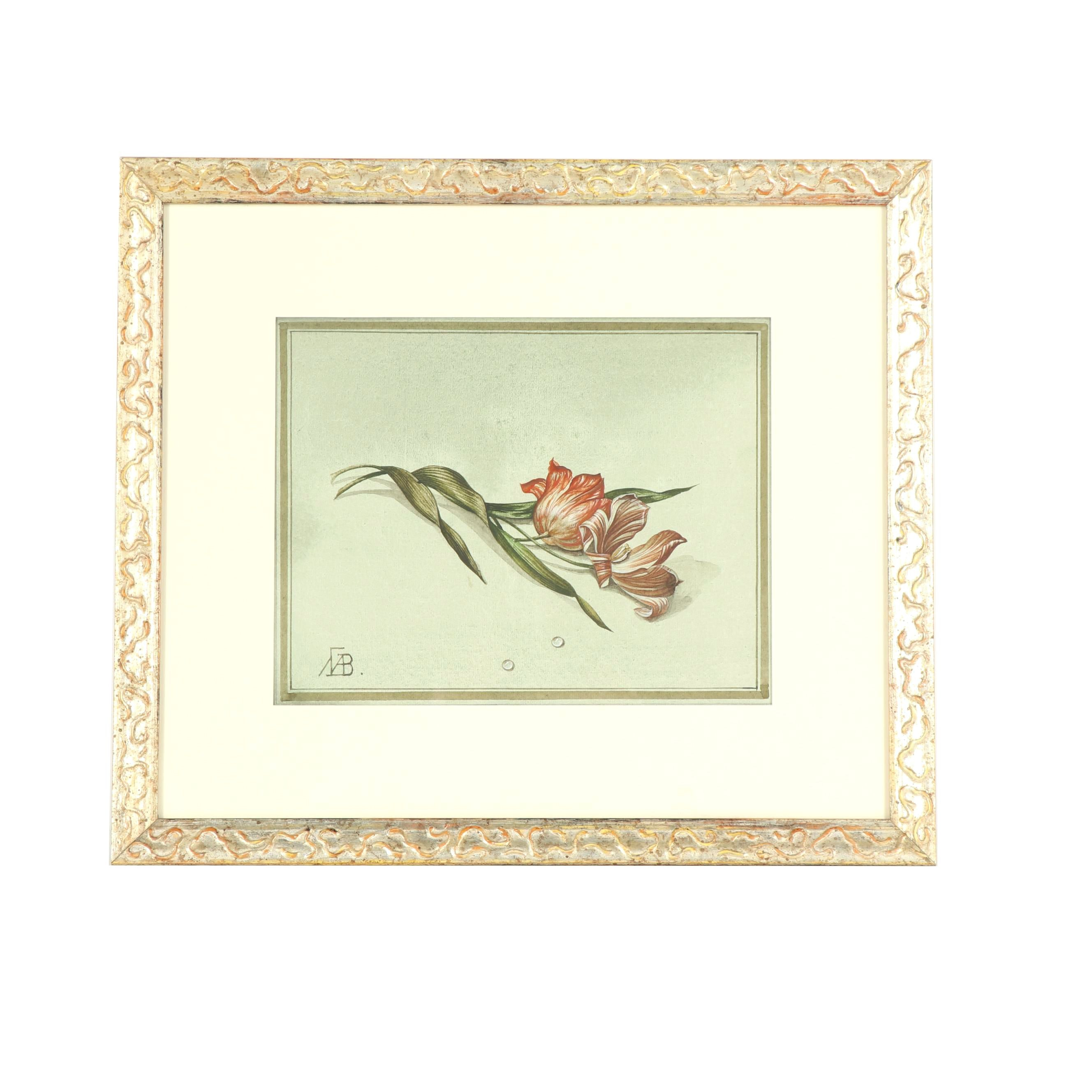 Floral Still Life Watercolor Painting