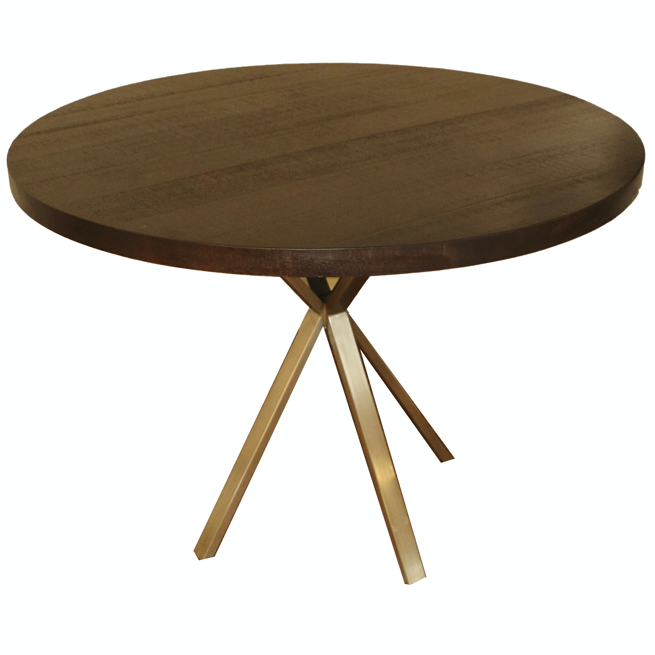 """Evans"" Wood and Metal Dining Table by Mandalay, 21st Century"