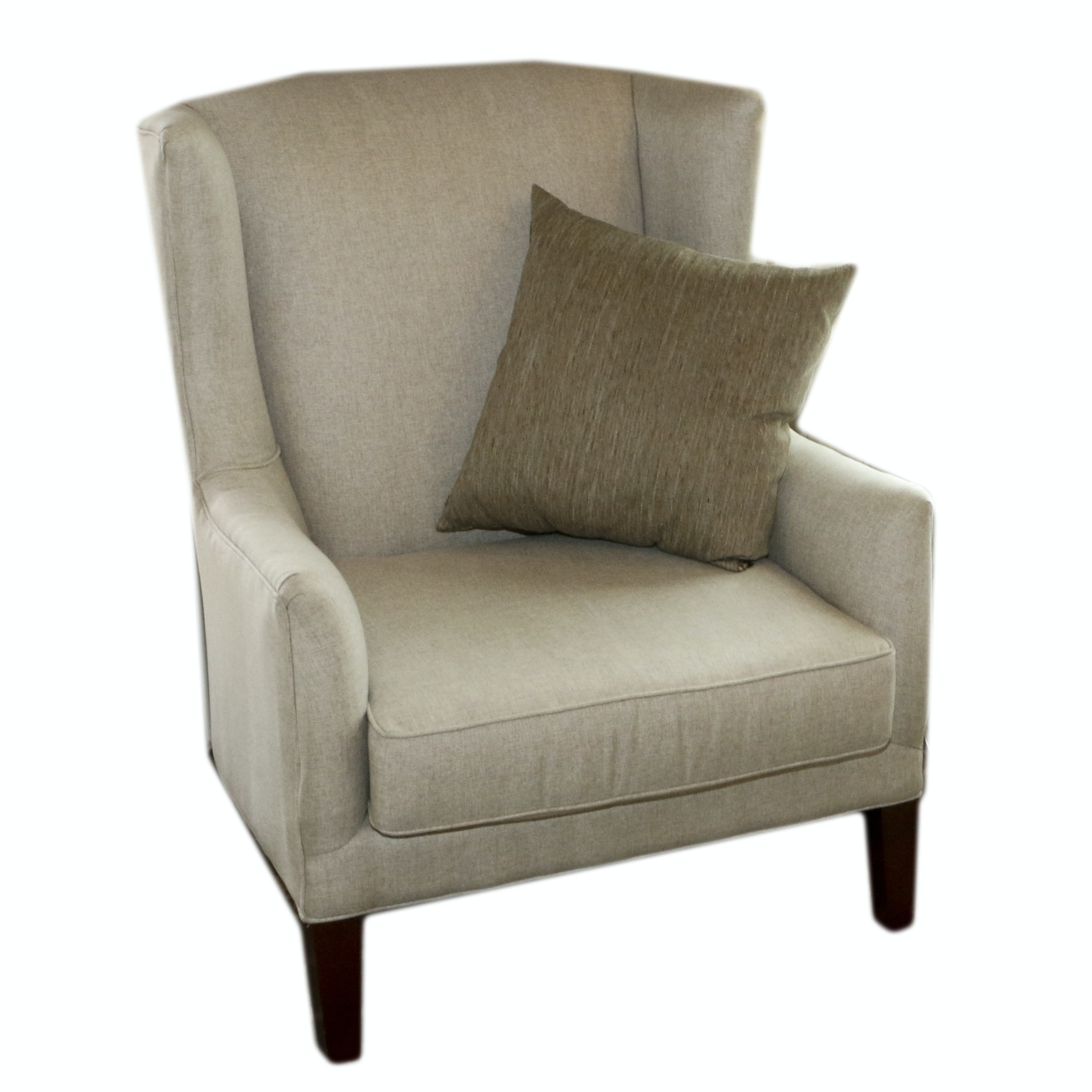 Upholstered Wingback Armchair, 21st Century