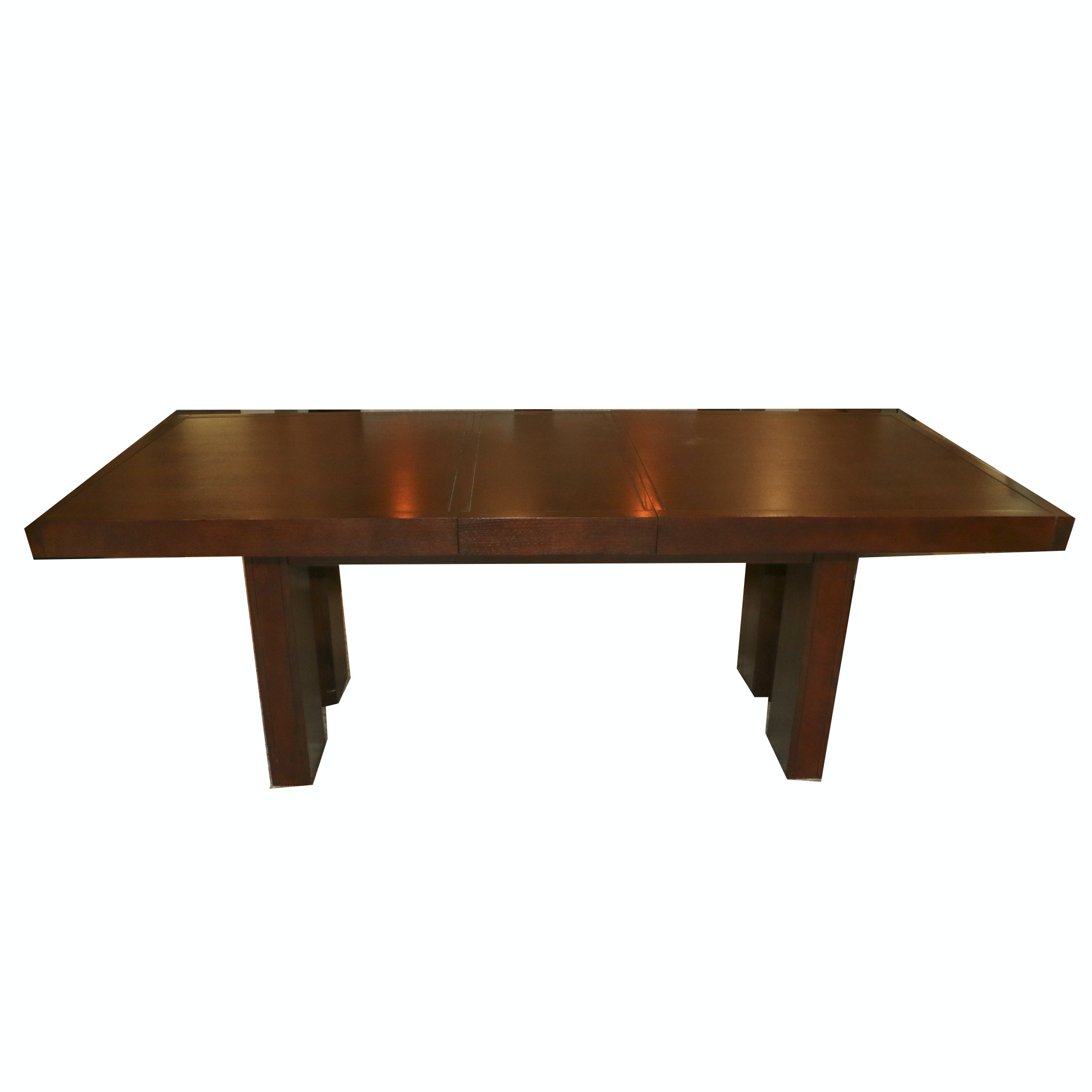Wooden Dining Table with Extension Leaf, 21st Century