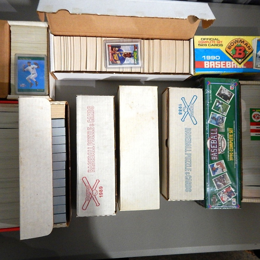 Ten Baseball Card Sealed Factory Sets From 1980s And 1990s