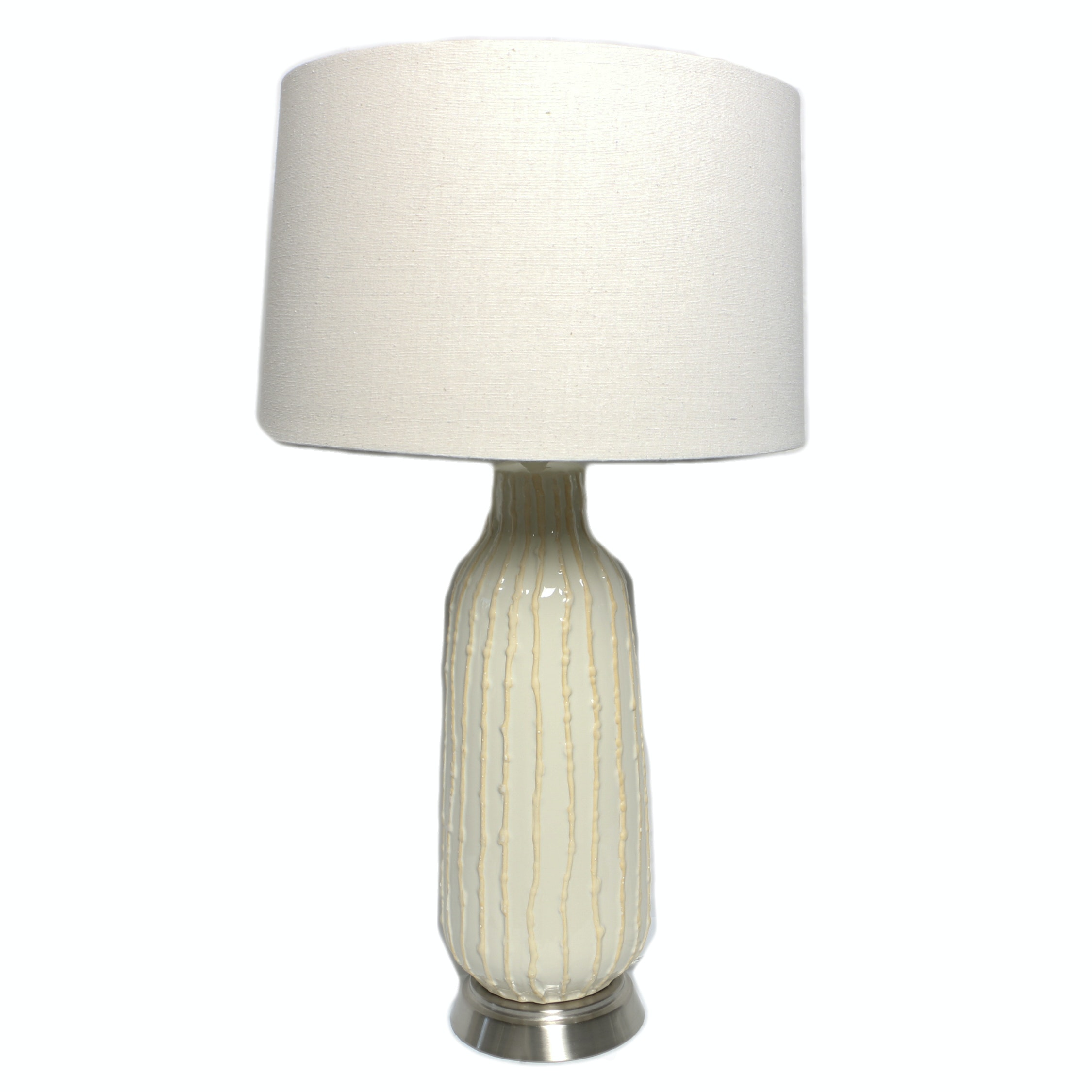 Textured Ceramic Lamp with Shade