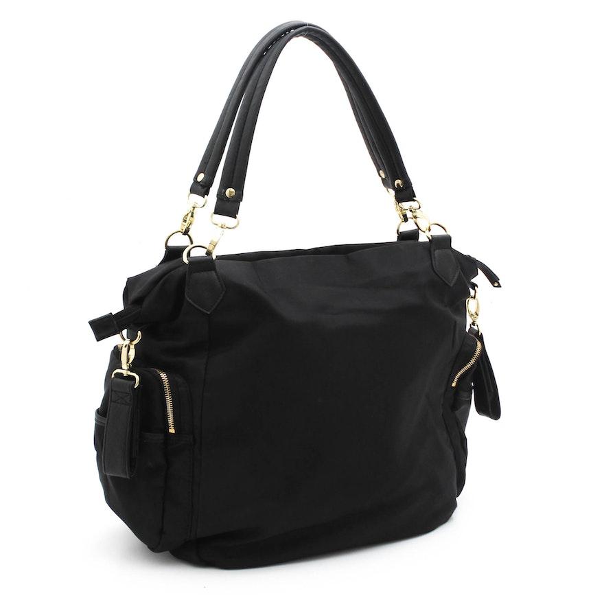 Olivia + Joy Black Nylon Shoulder Bag   EBTH 96147b42bc539