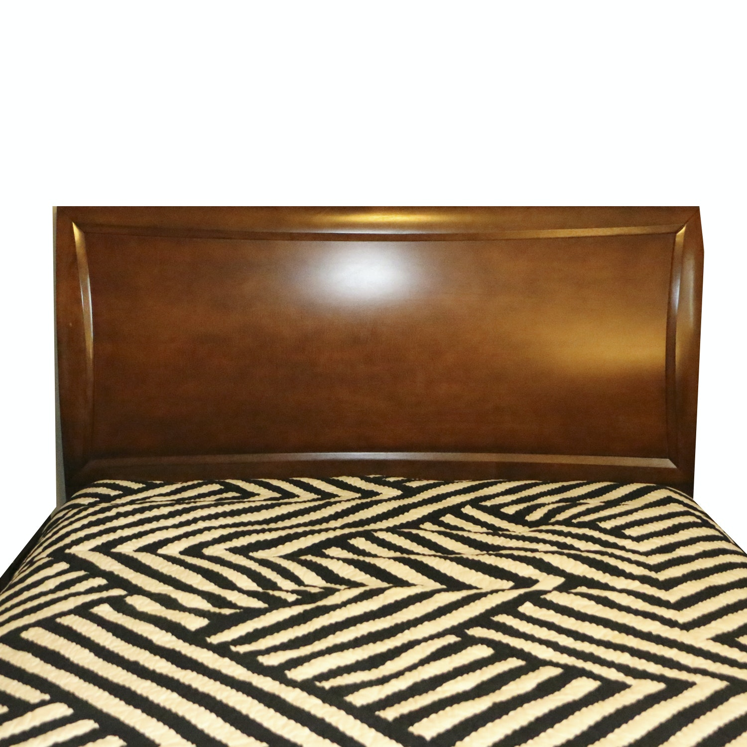Wooden Full Size Headboard, 21st Century