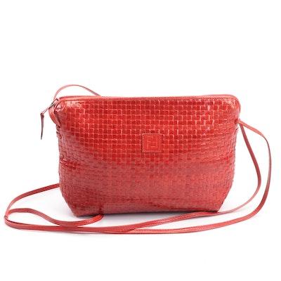 Prada Brown Leather Flap Front Crossbody Bag 79cb32b60e0ce